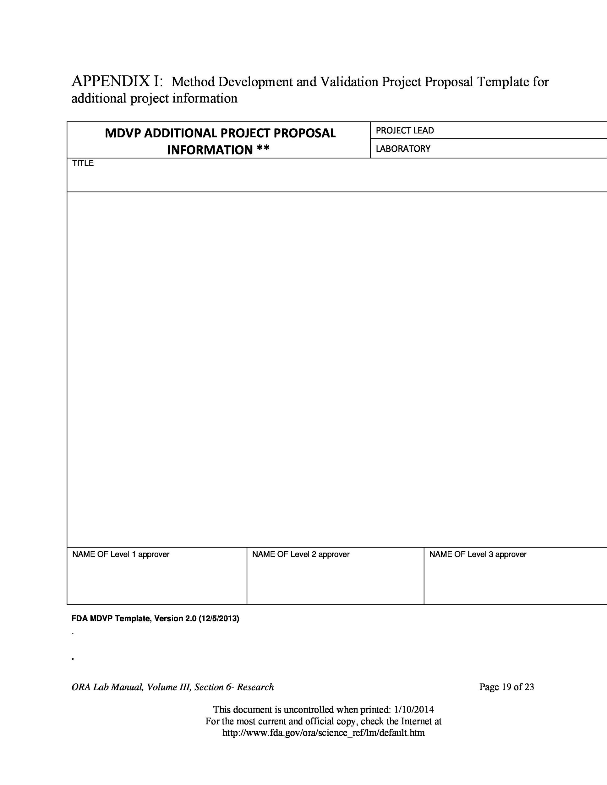 Free Project Proposal Template 43