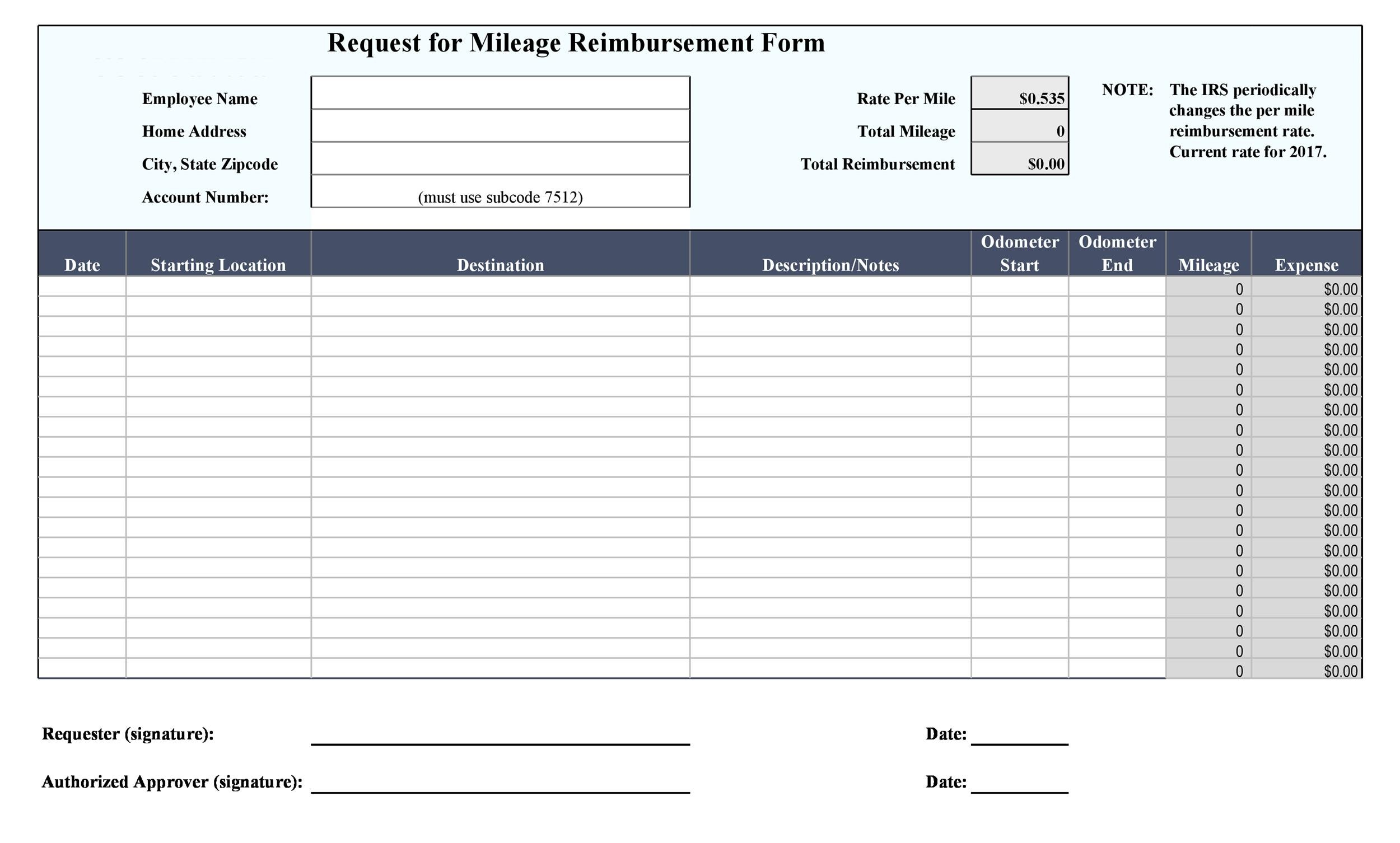 Free reimbursement form 27