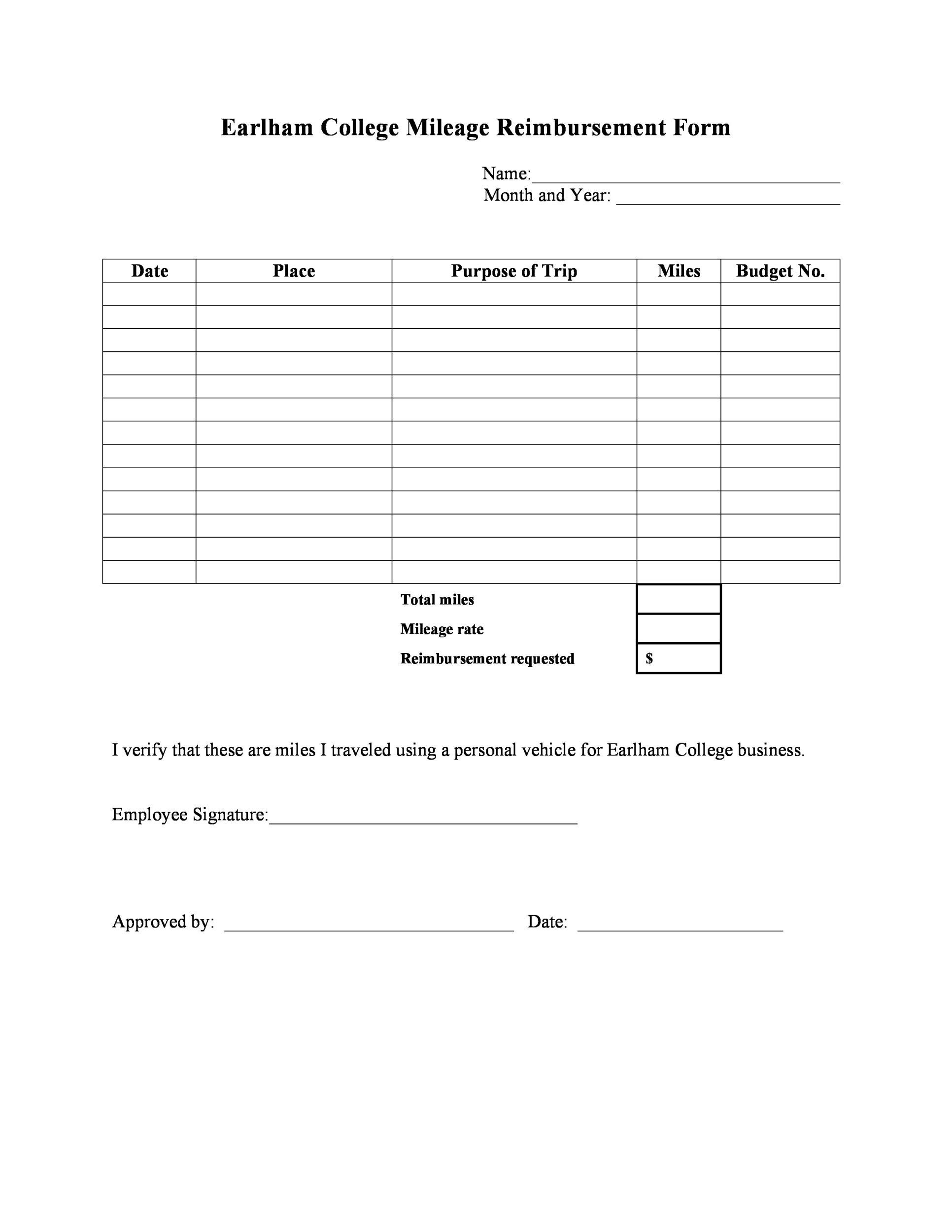 Free reimbursement form 31