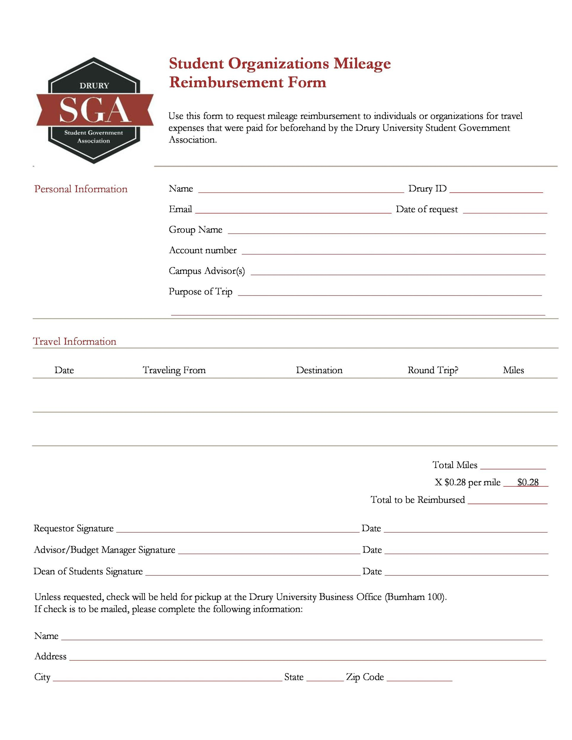 Free reimbursement form 36