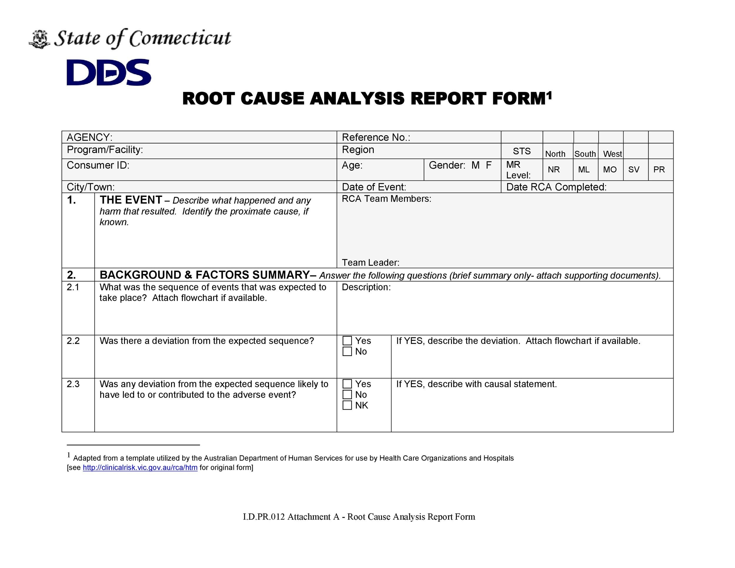Free Root Cause Analysis Template 04