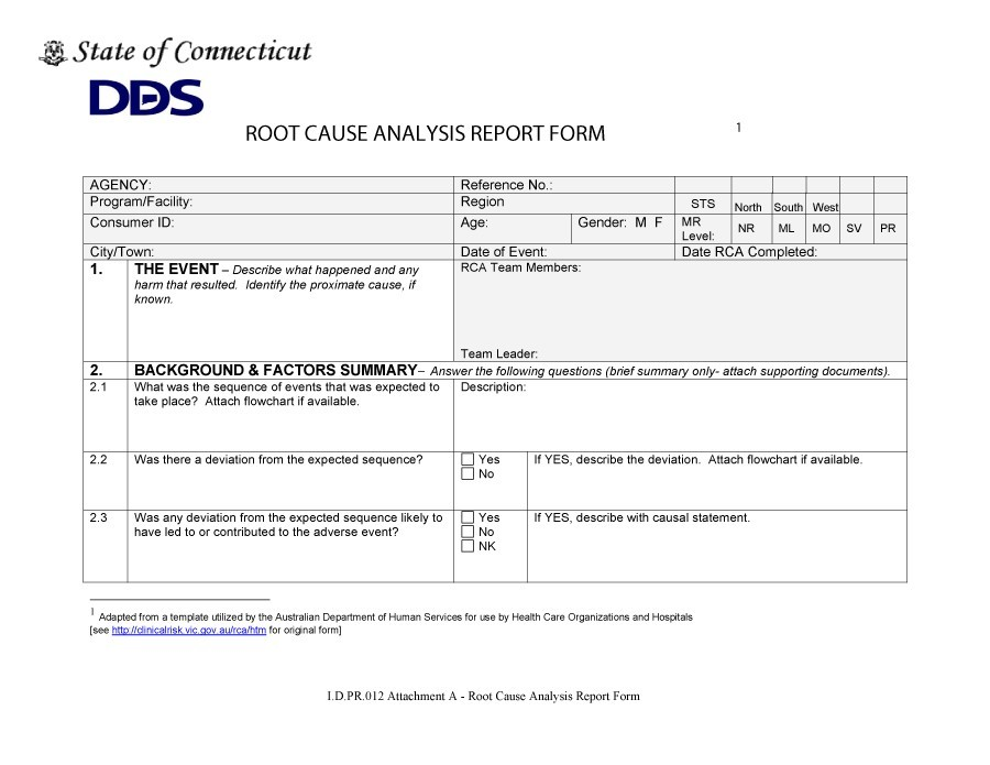 itil root cause analysis template.html