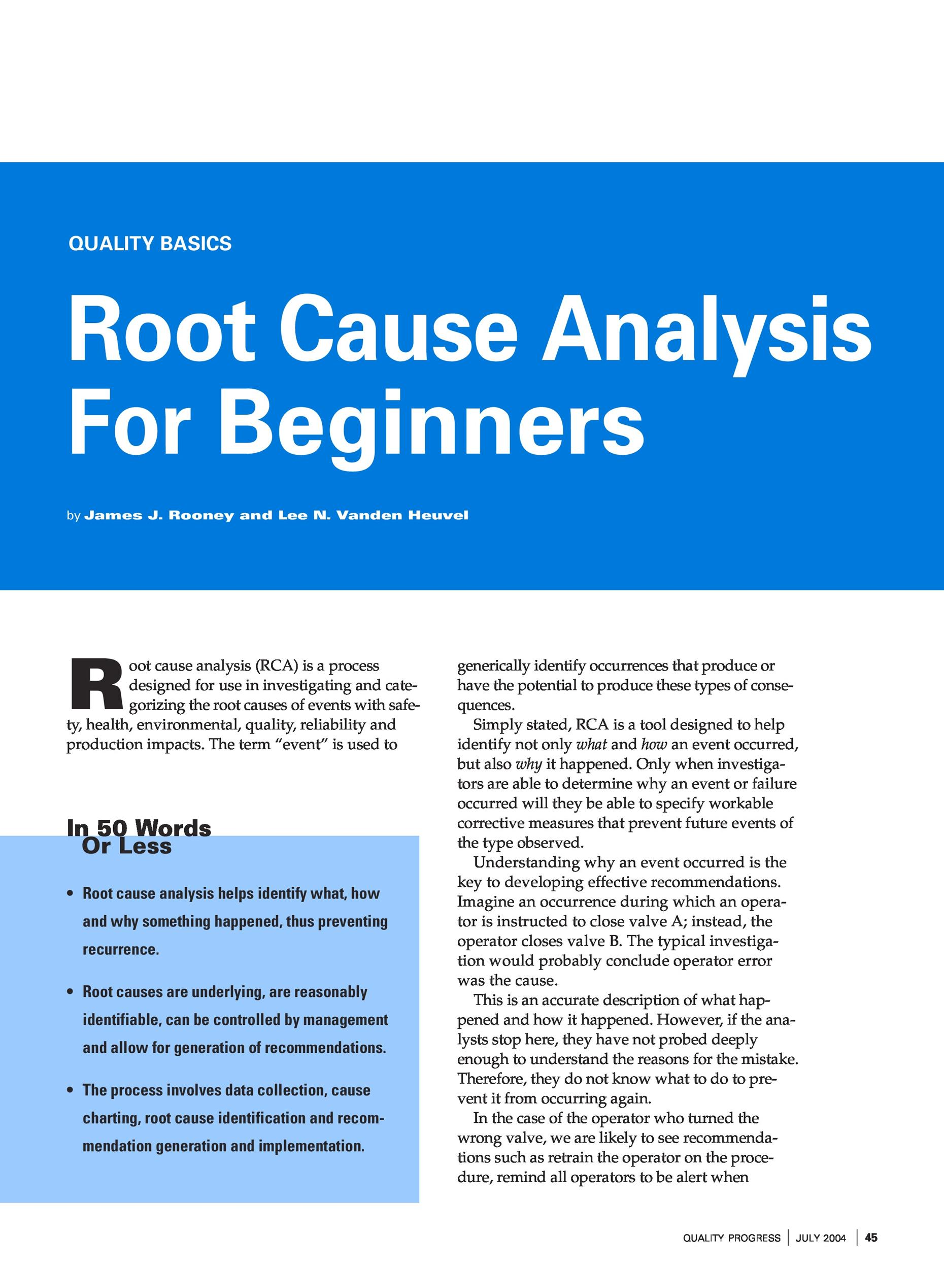 Free Root Cause Analysis Template 24