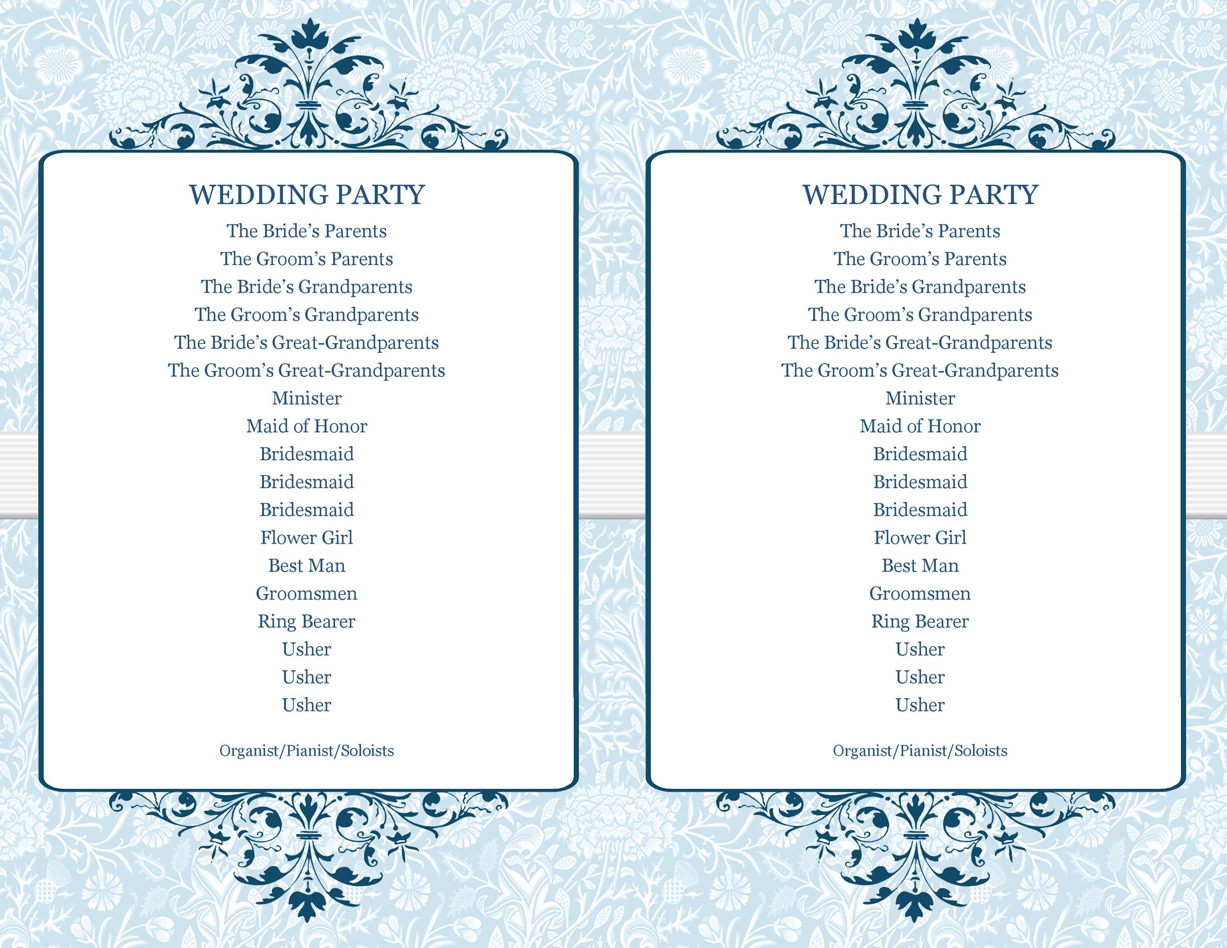 Free Wedding Program Template 06