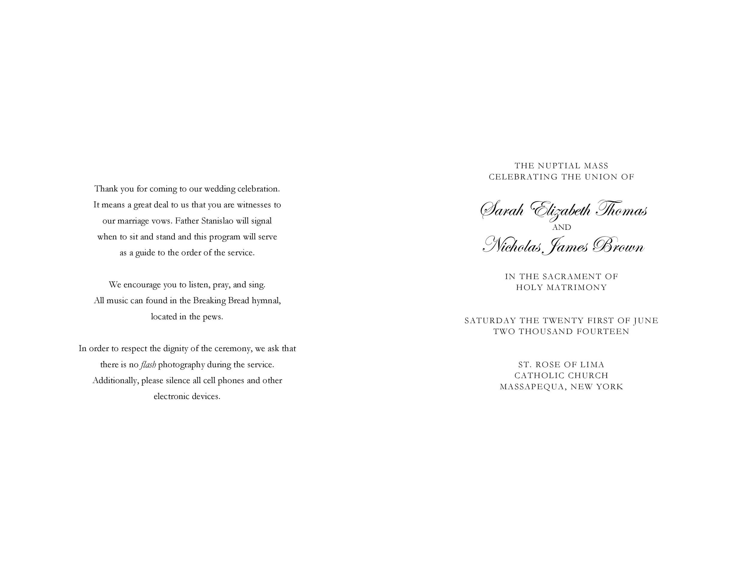 Free Wedding Program Template 09