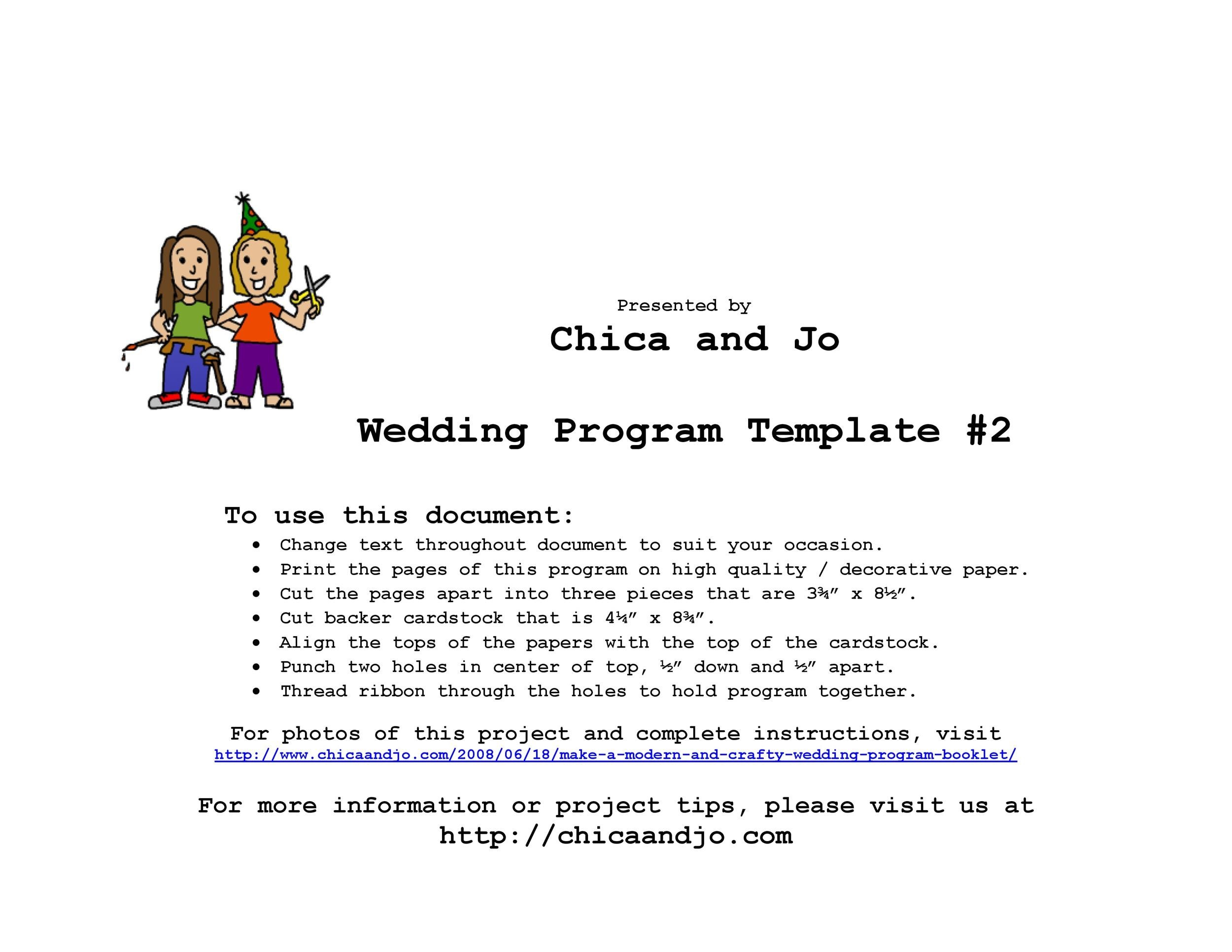 Free Wedding Program Template 10