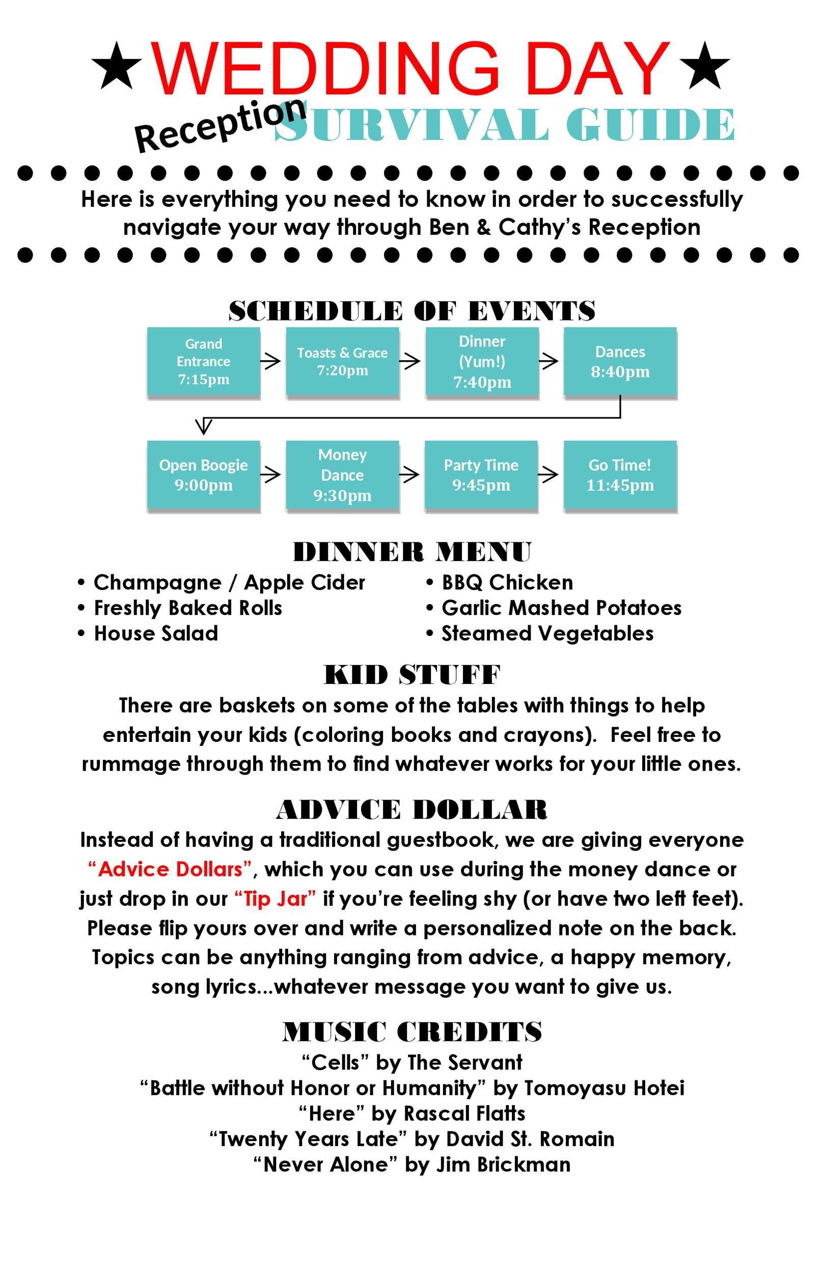 Free Wedding Program Template 11