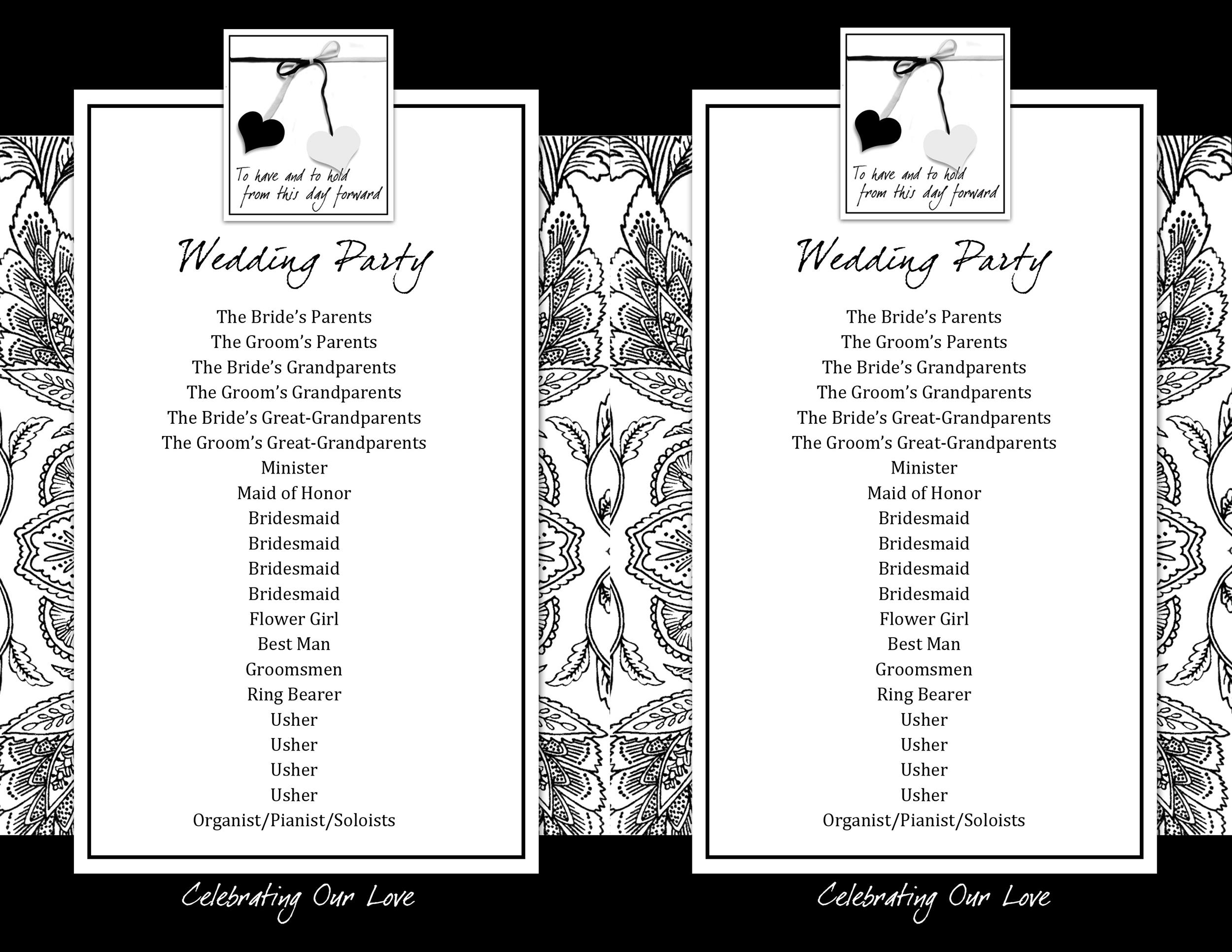 Free Wedding Program Template 14