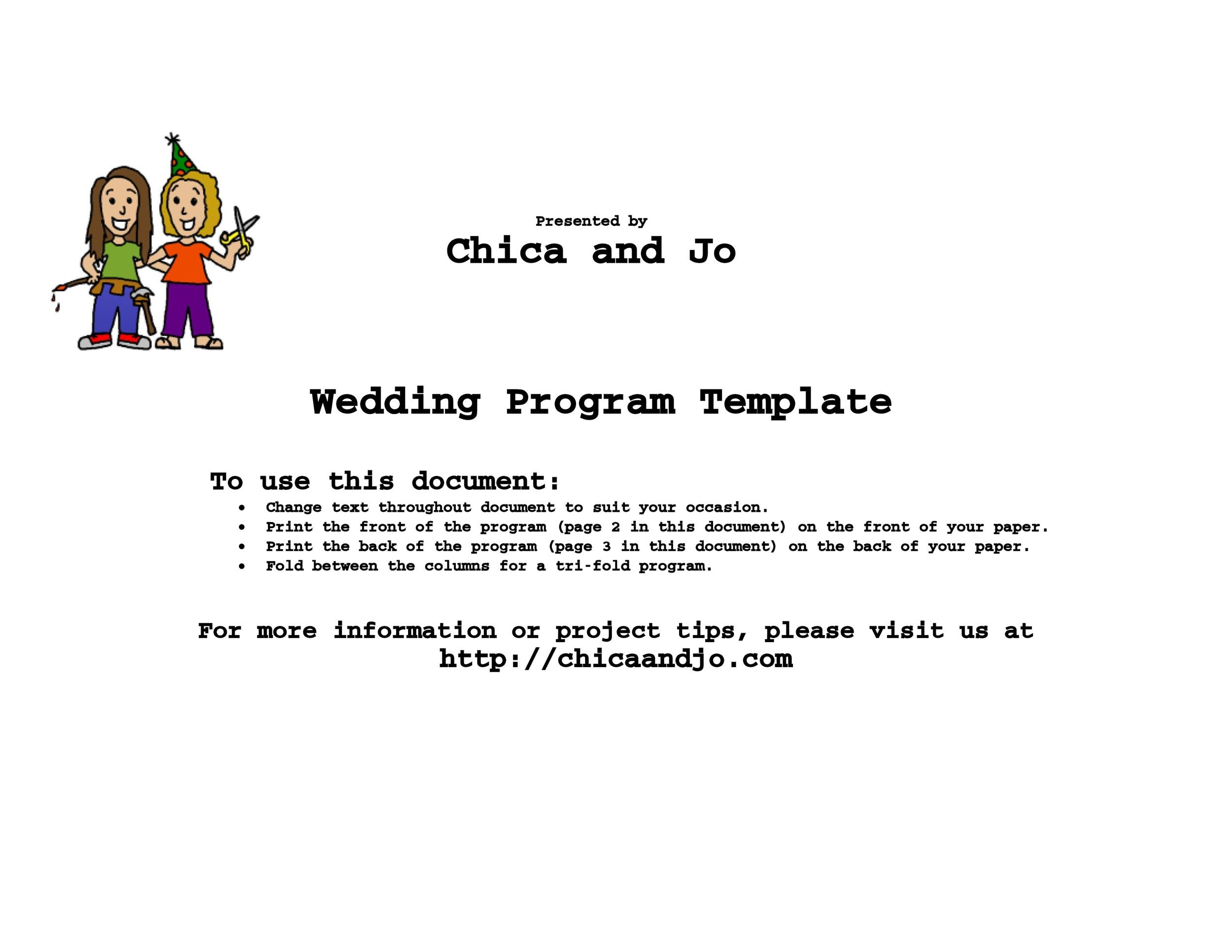 Free Wedding Program Template 16
