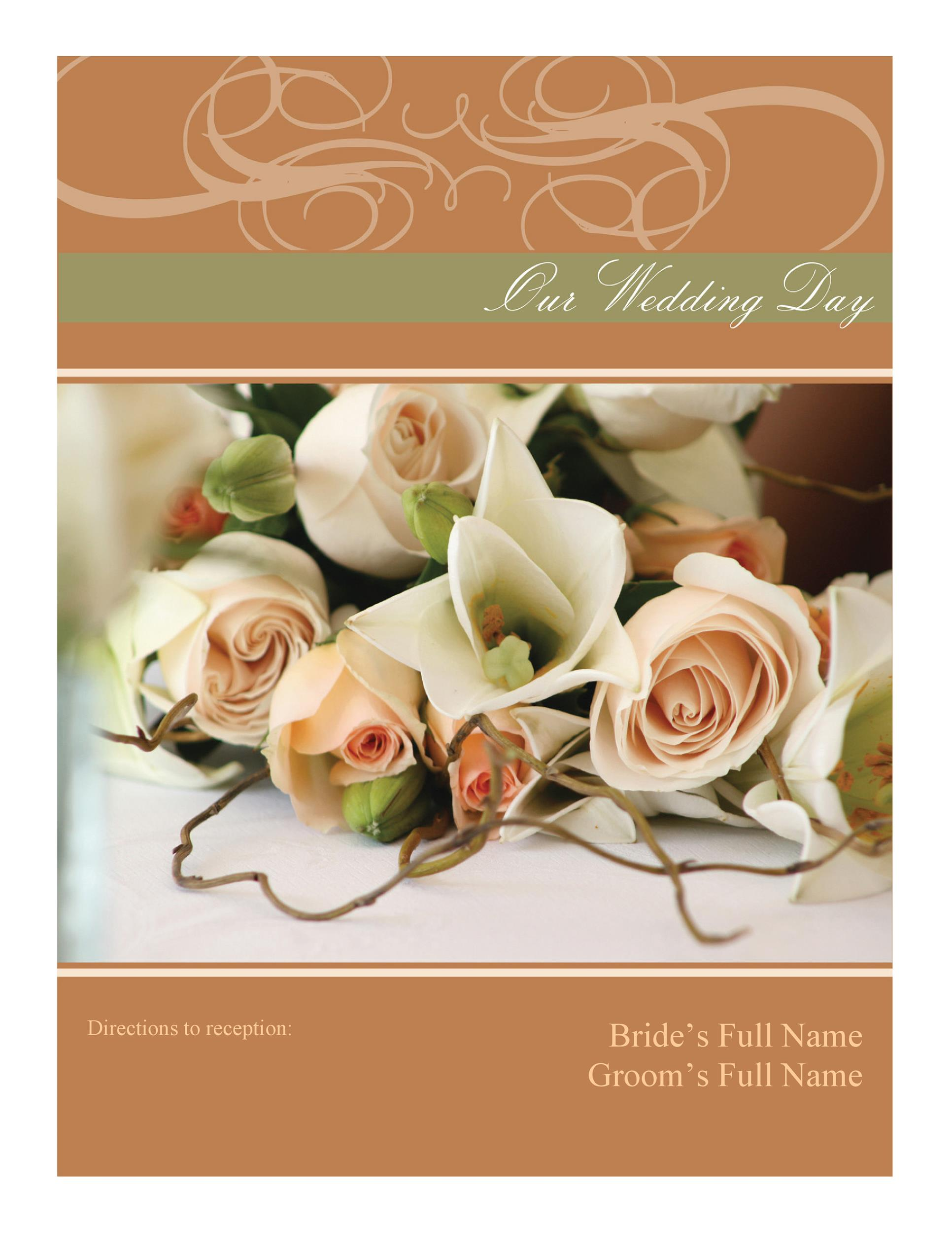 Free Wedding Program Template 36