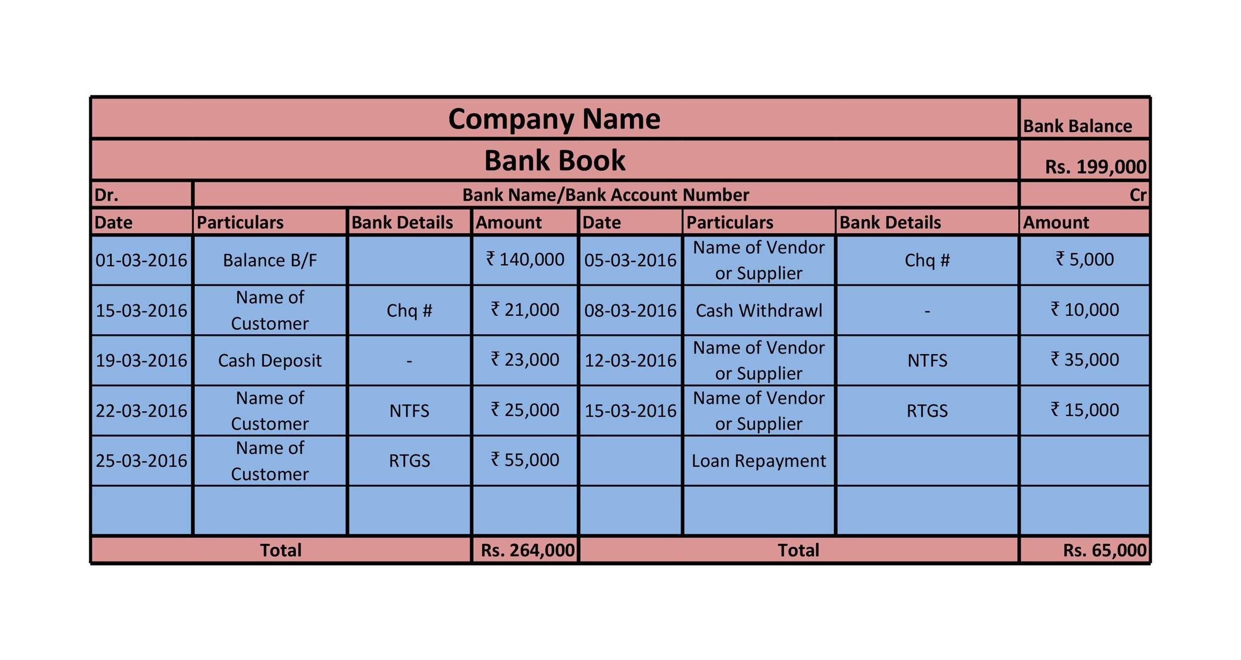Free Bank Reconciliation Template 14