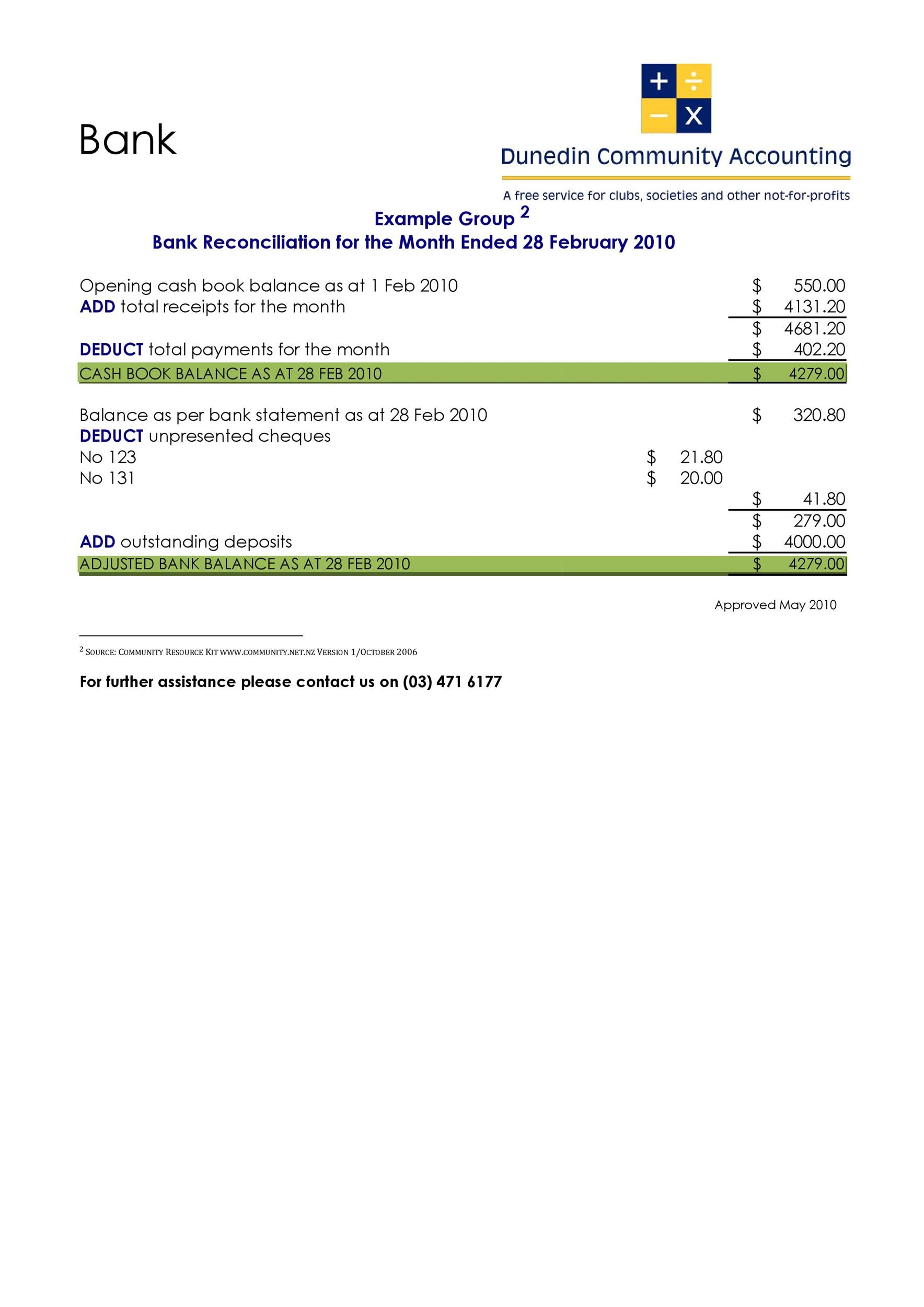 Free Bank Reconciliation Template 31