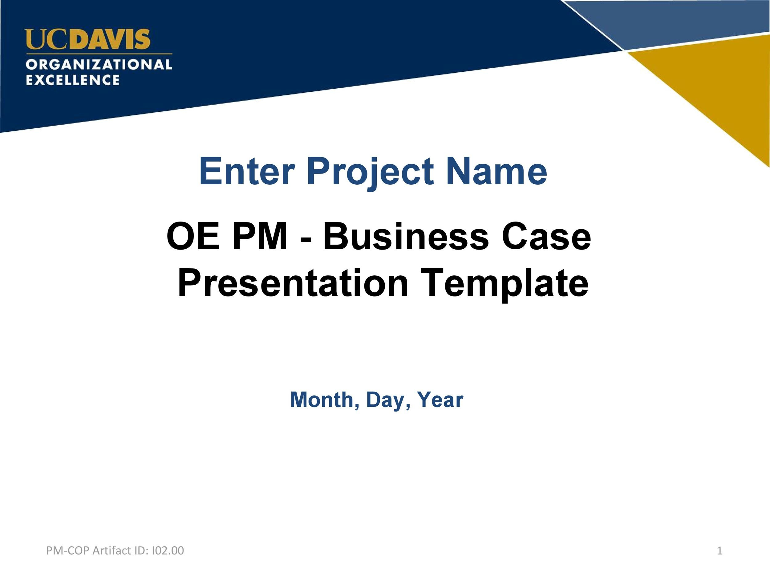 Free Business Case Template 04