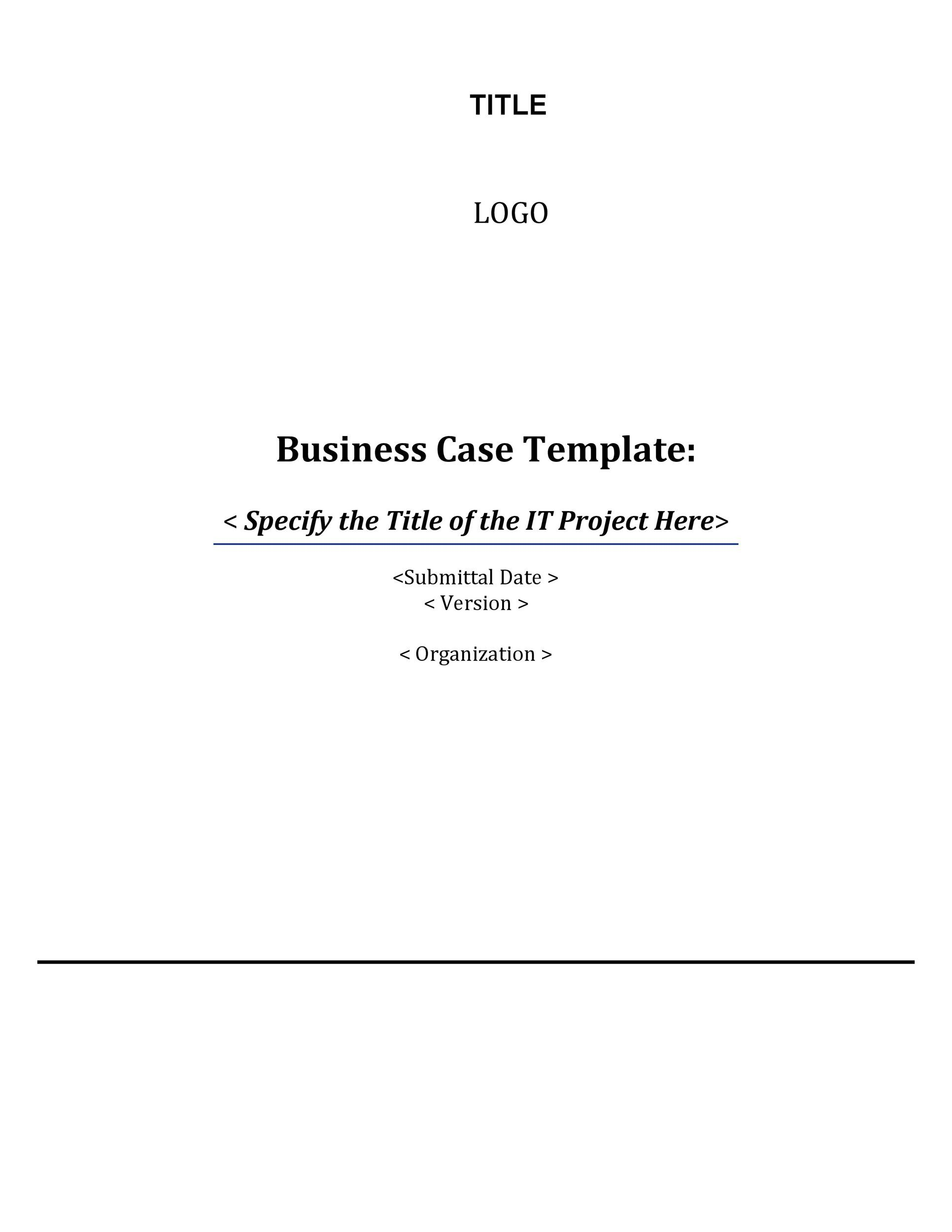 Free Business Case Template 09