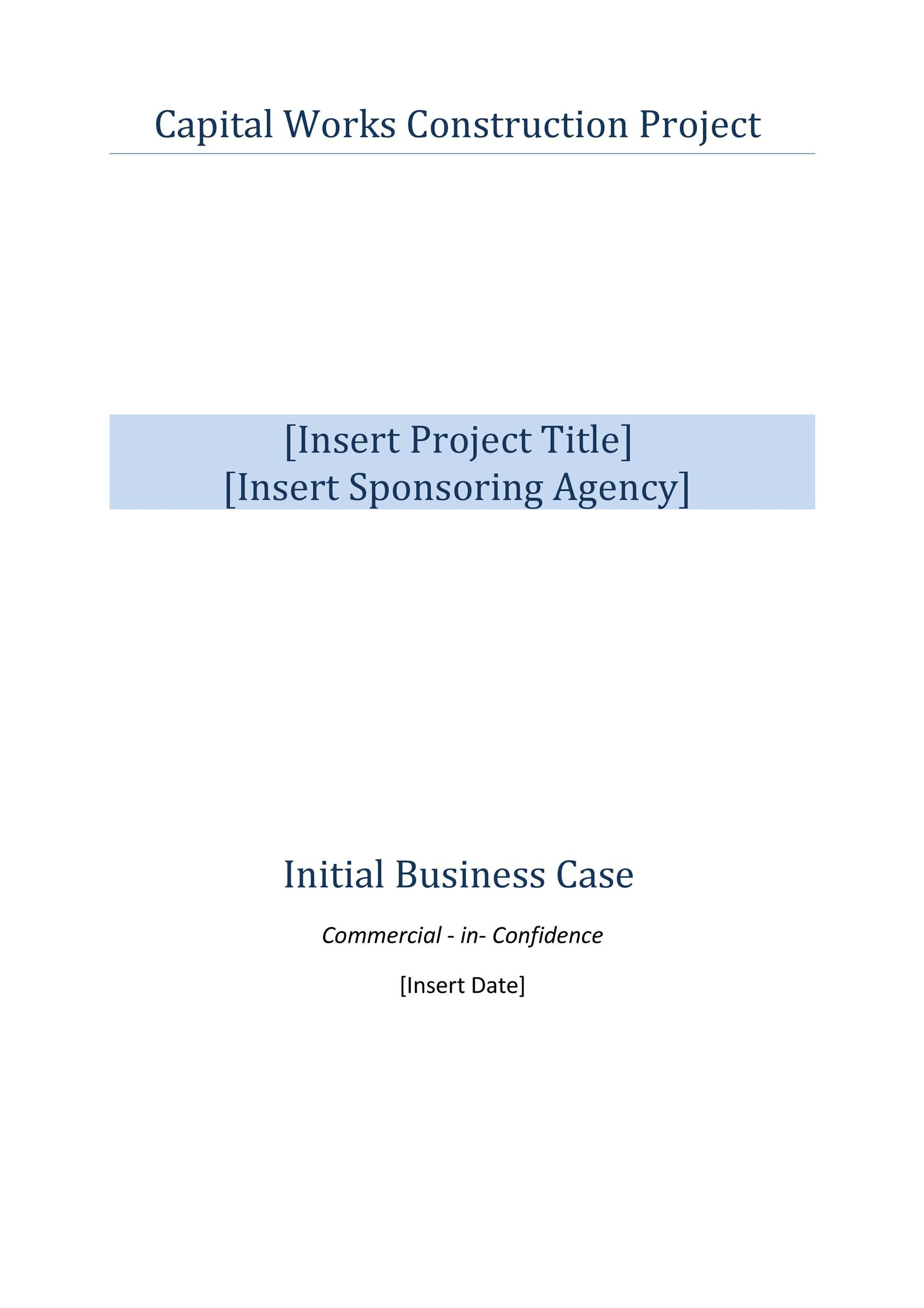 Free Business Case Template 11