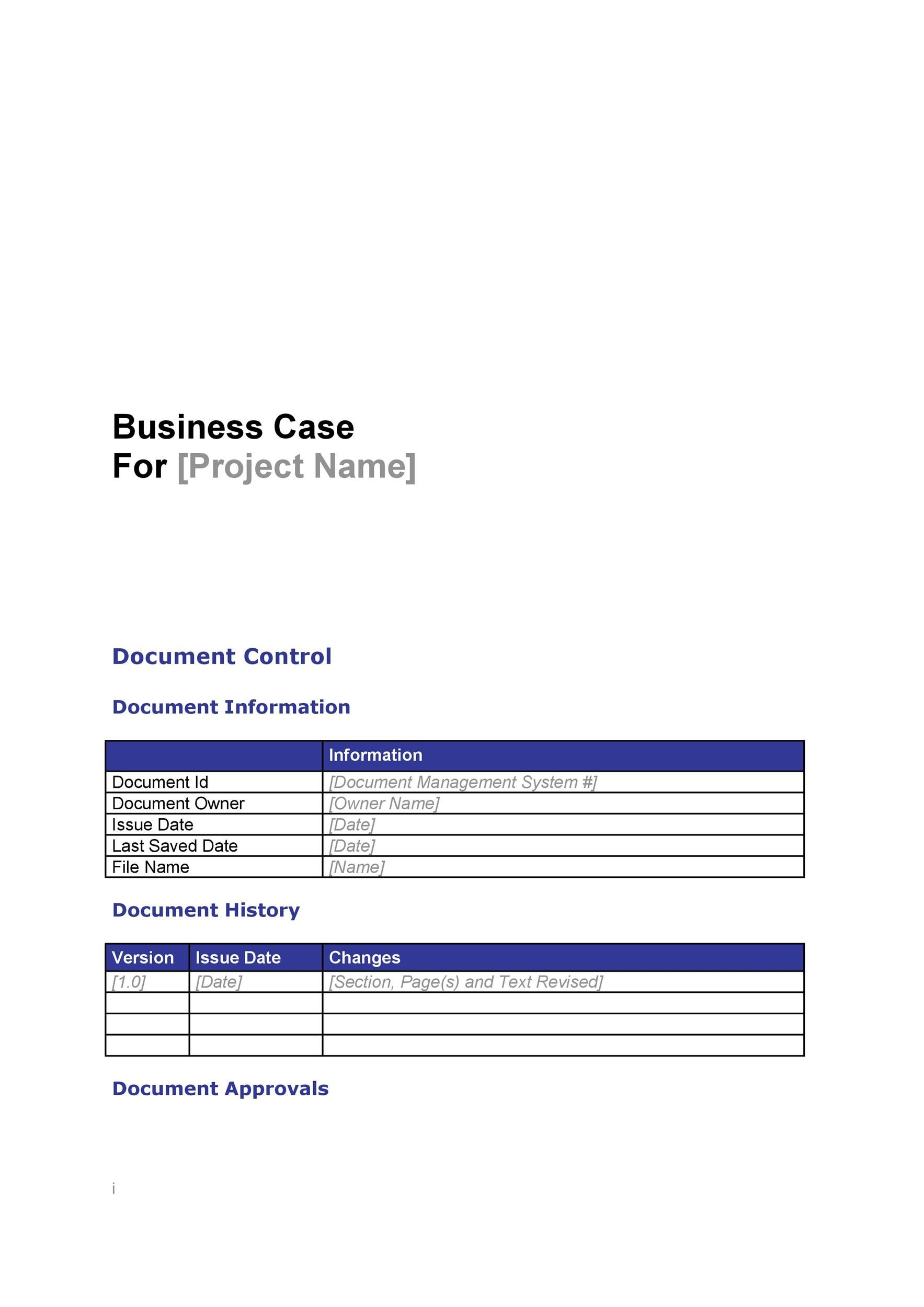 Free Business Case Template 24