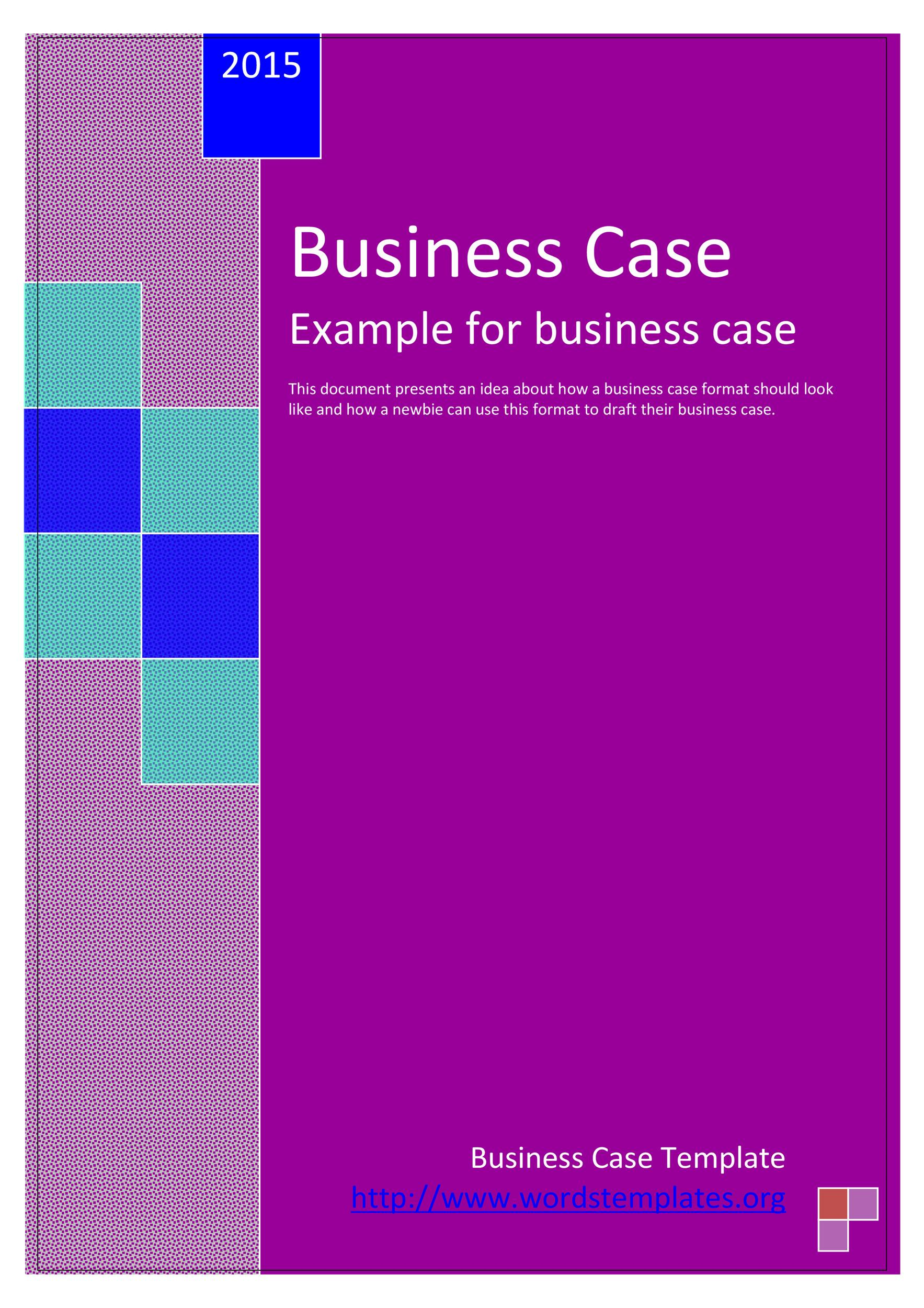 Free Business Case Template 28