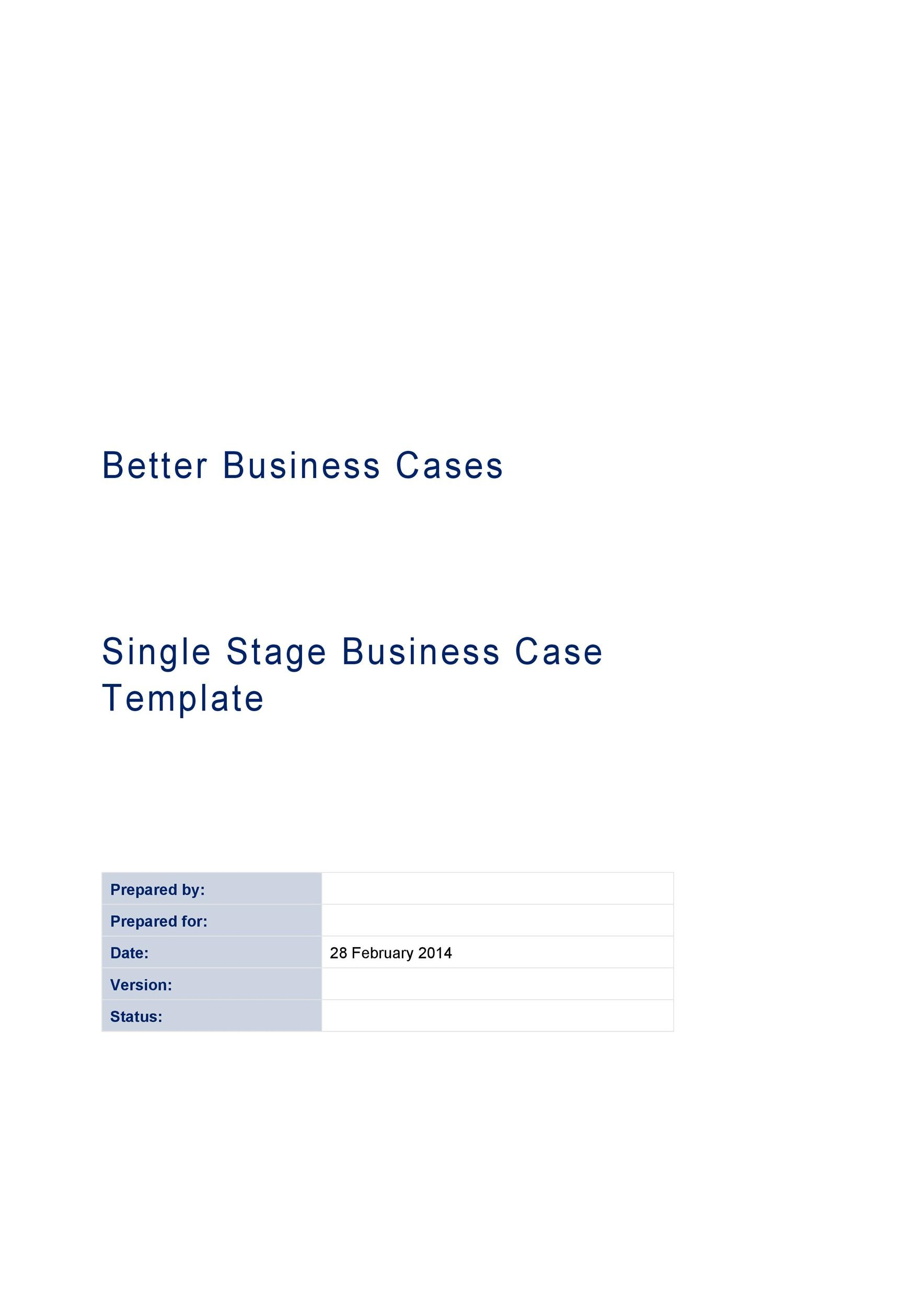 Free Business Case Template 29