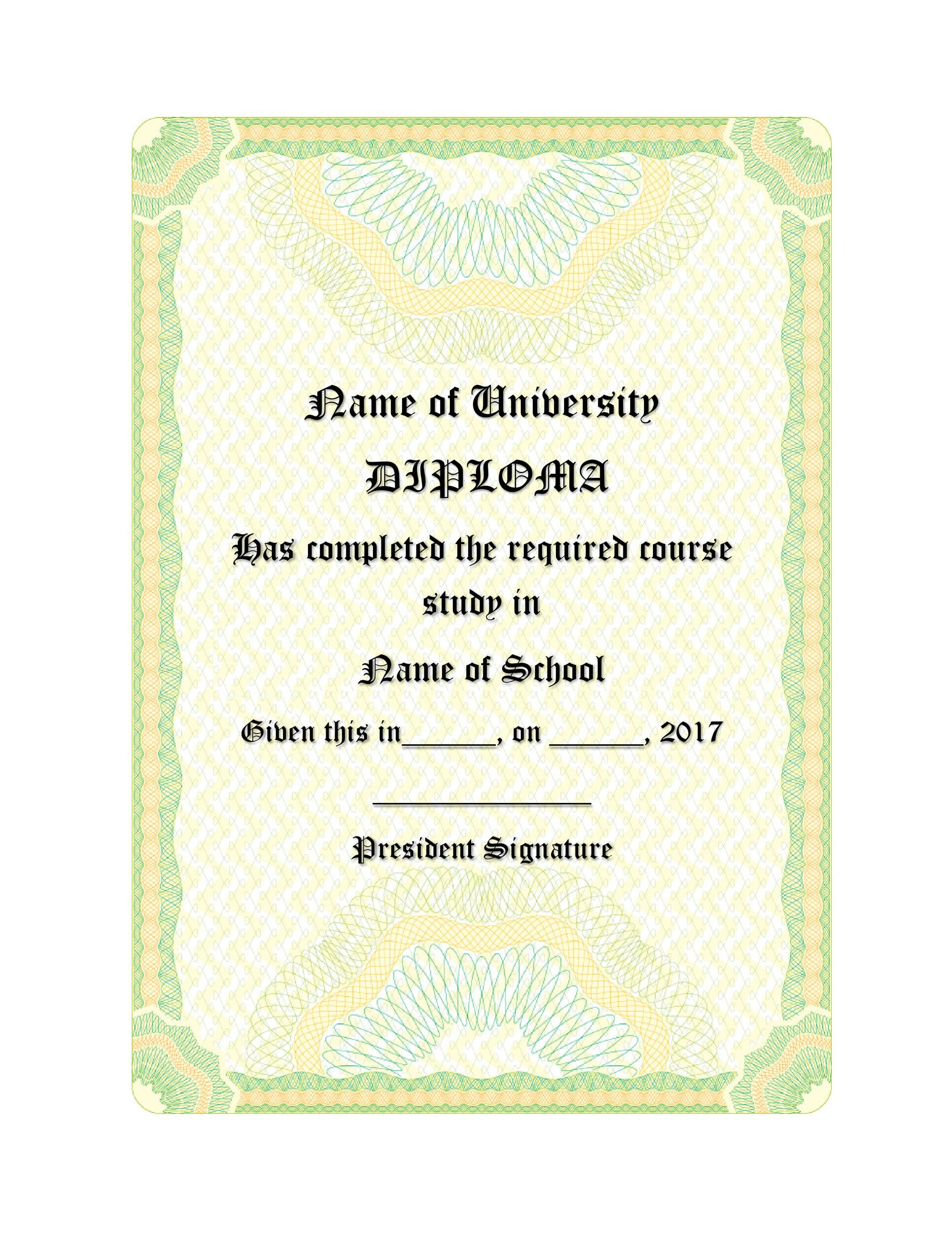 Free Diploma Template 07