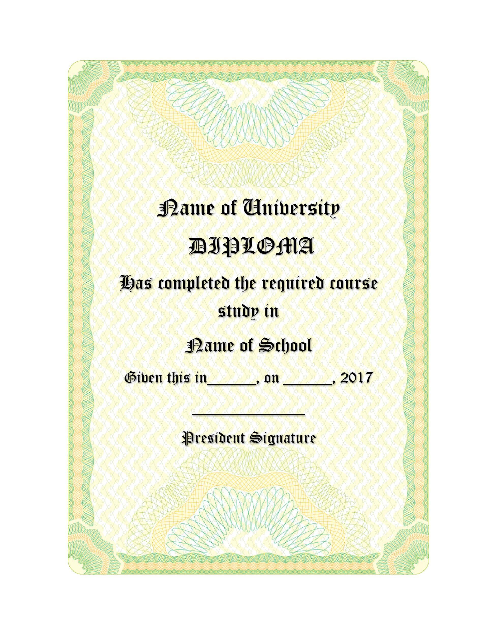 Free Diploma Template 07