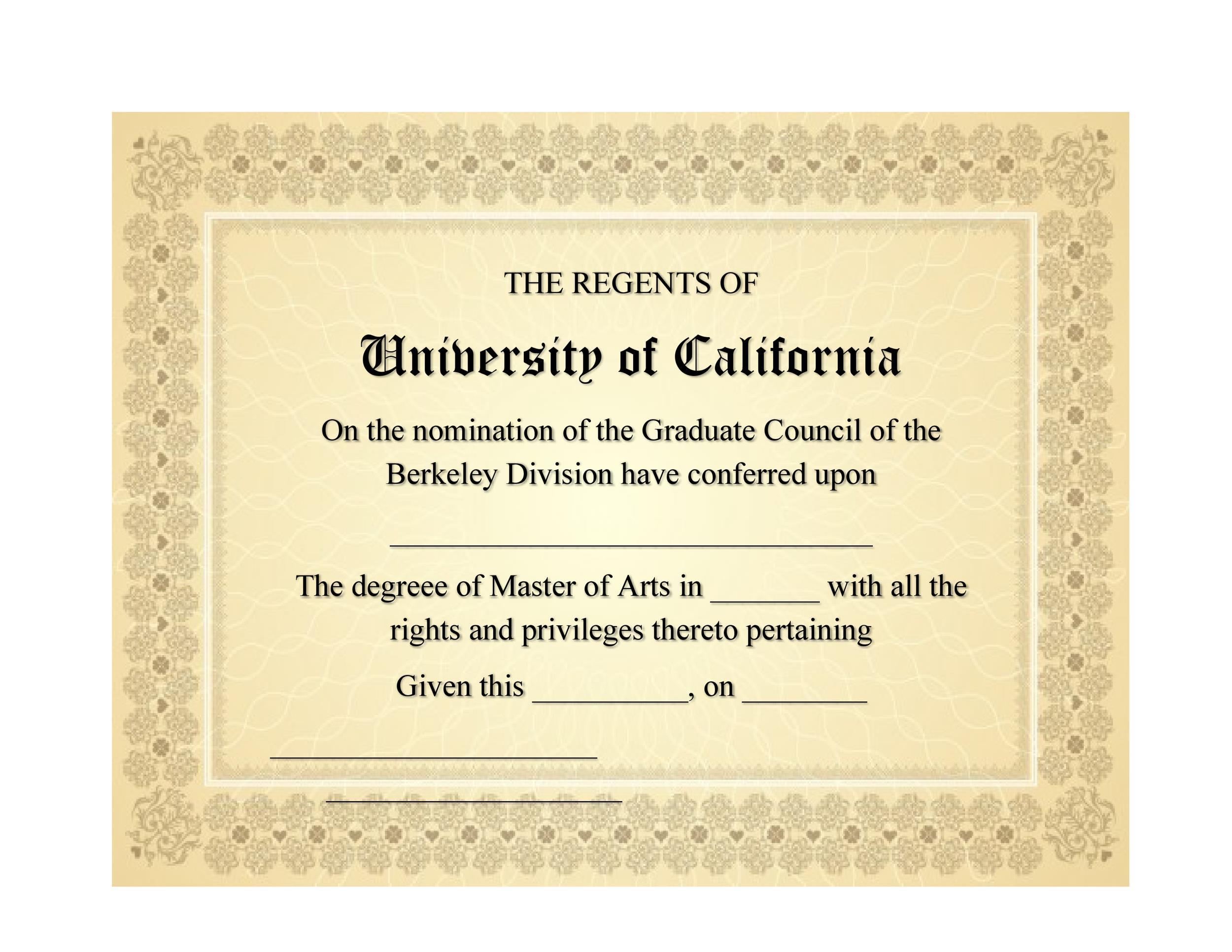 Free Diploma Template 09