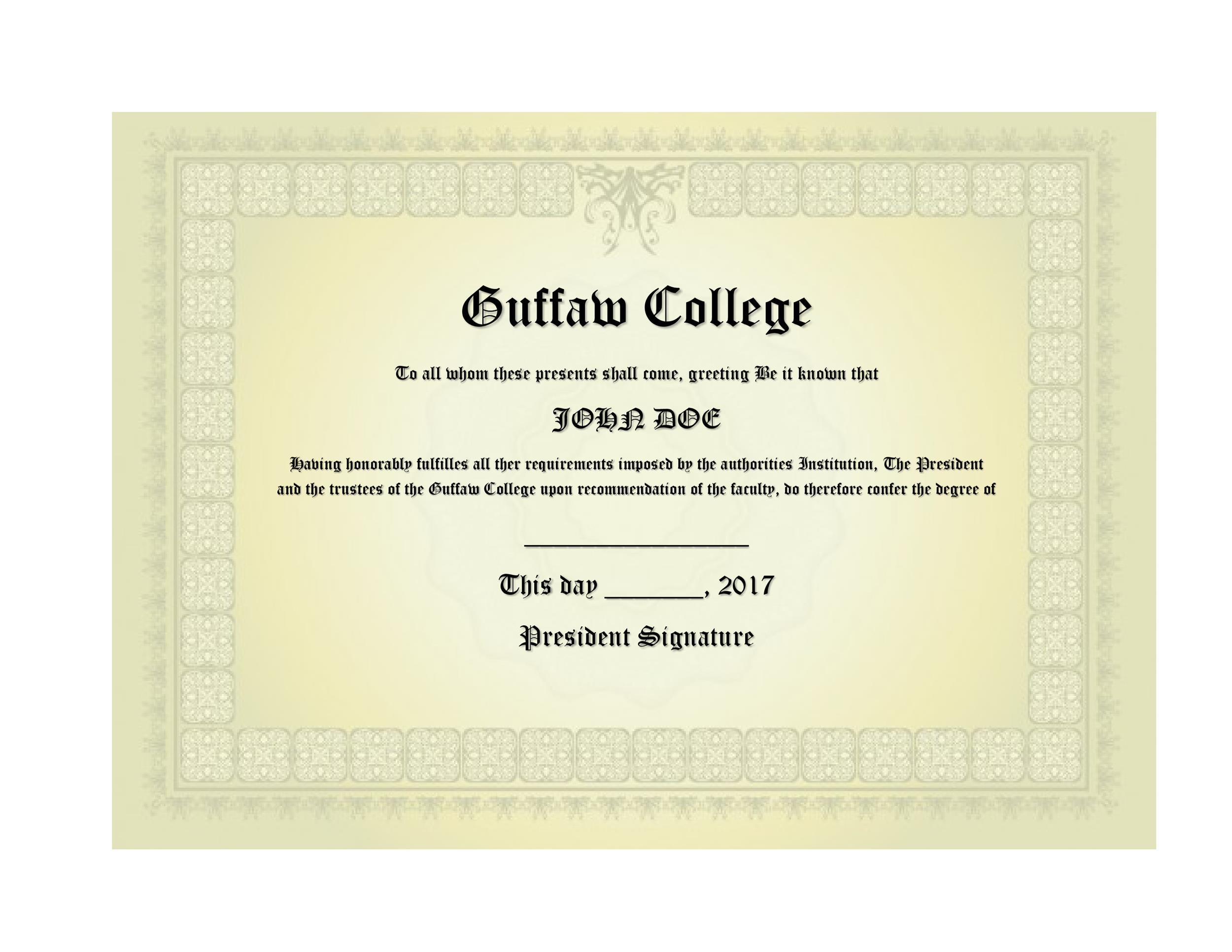 Free Diploma Template 10