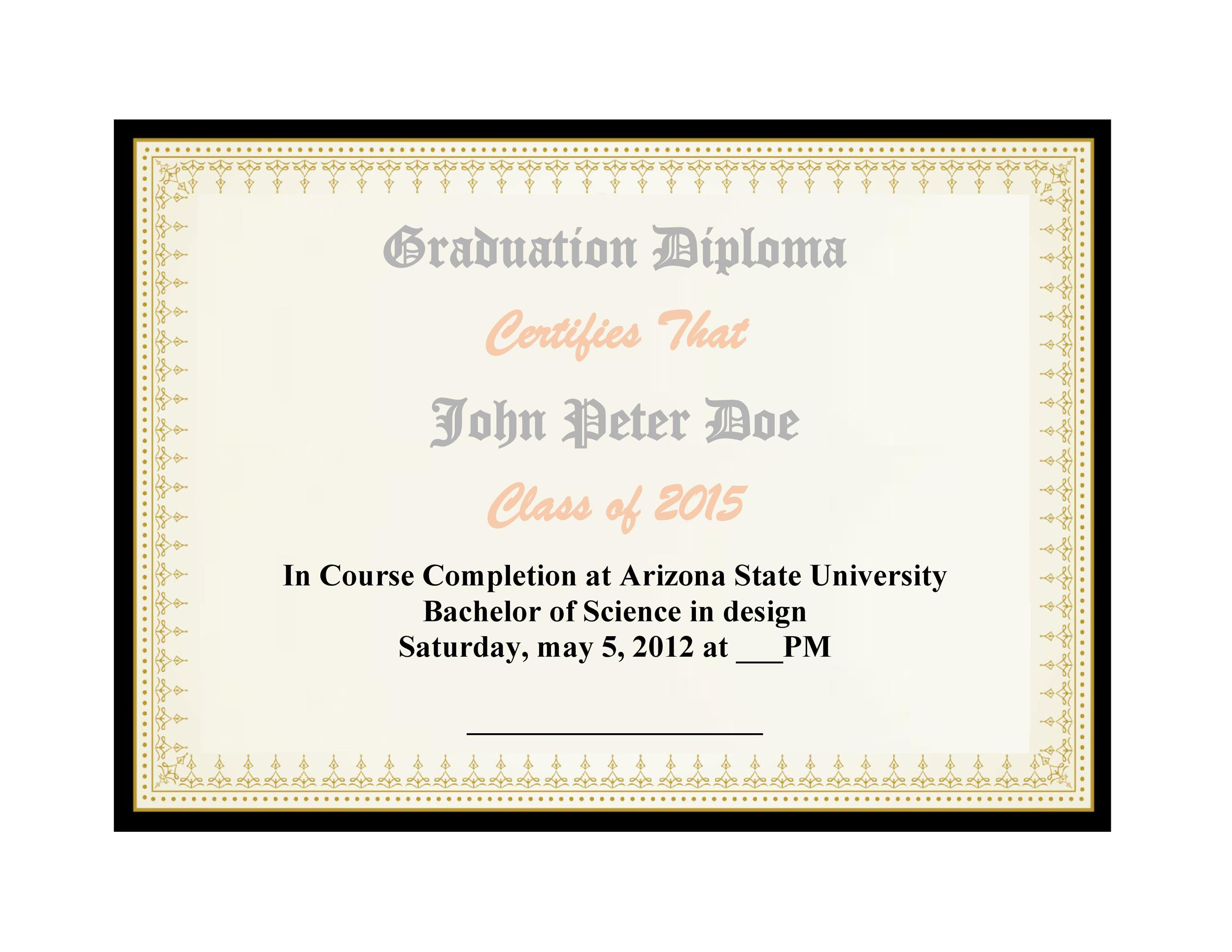 Free Diploma Template 19