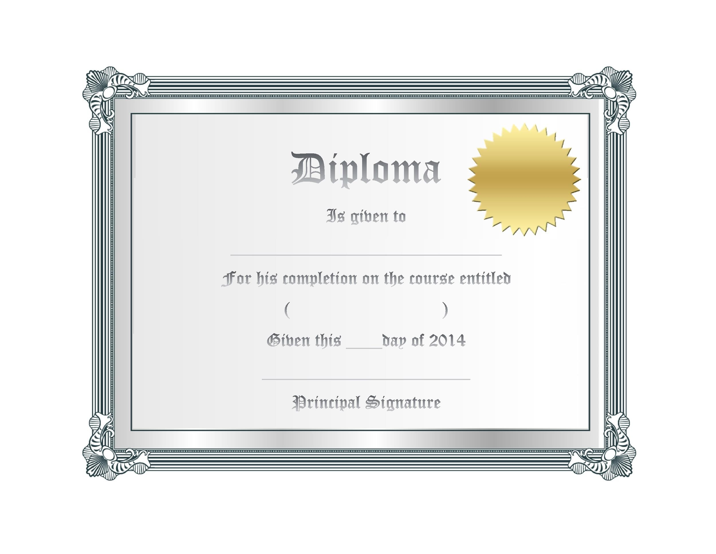 Free Diploma Template 22