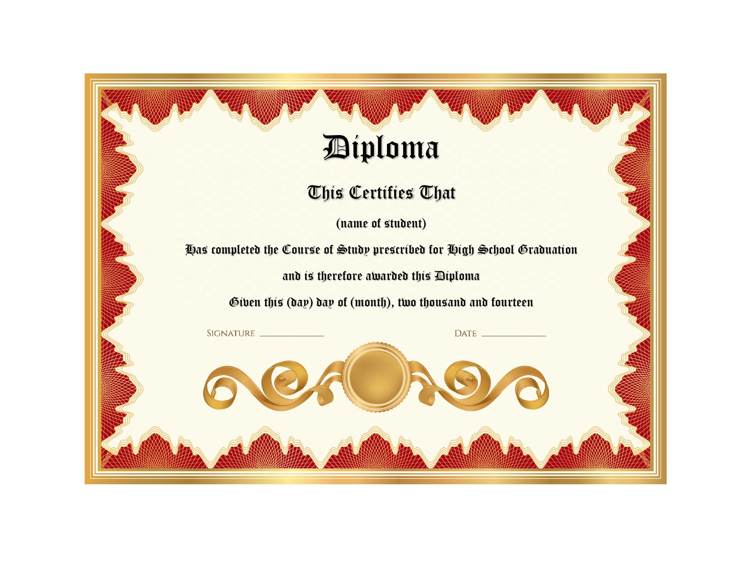 picture about Printable Graduation Certificate identify 30 True Wrong Degree Templates (Significant college or university, School