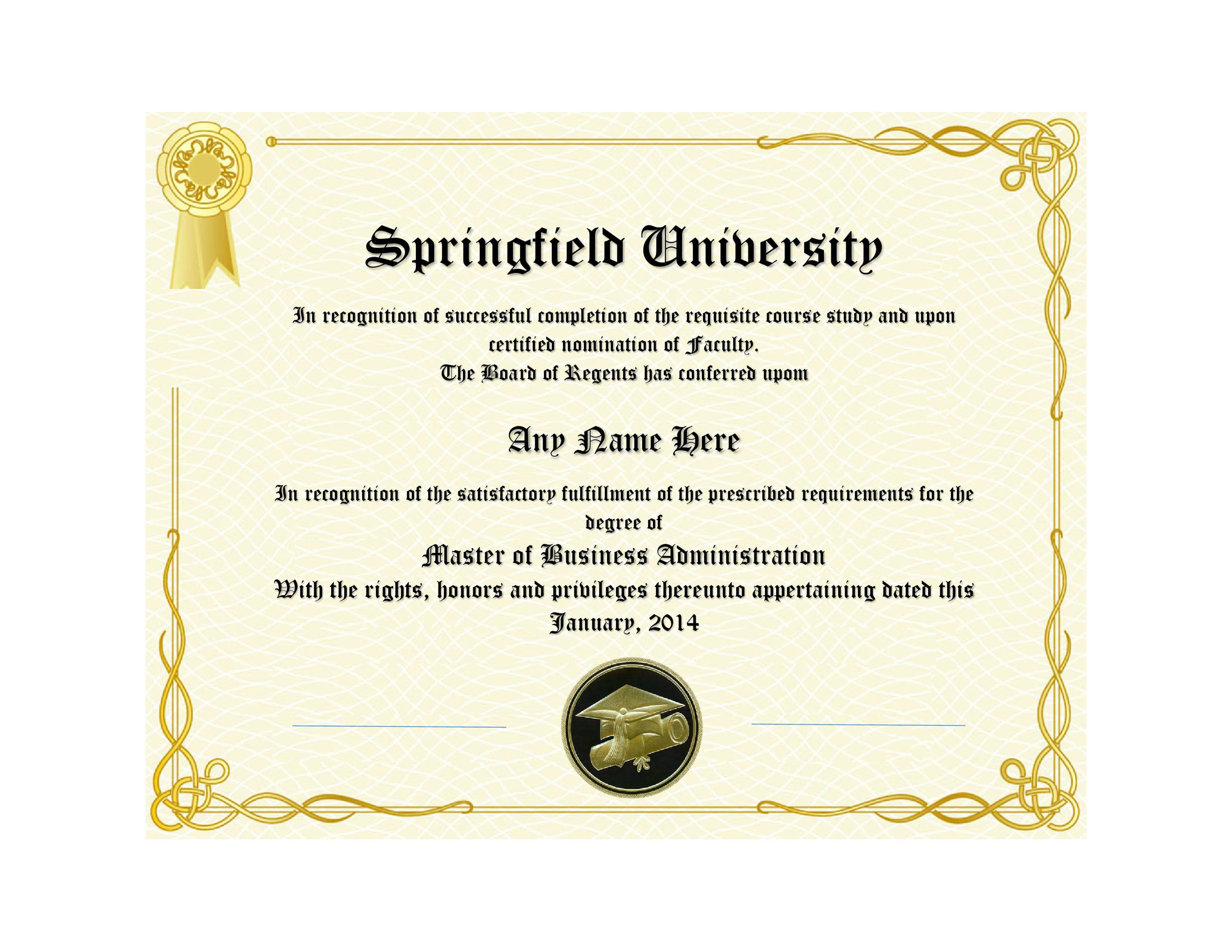 Lively image with printable diploma template