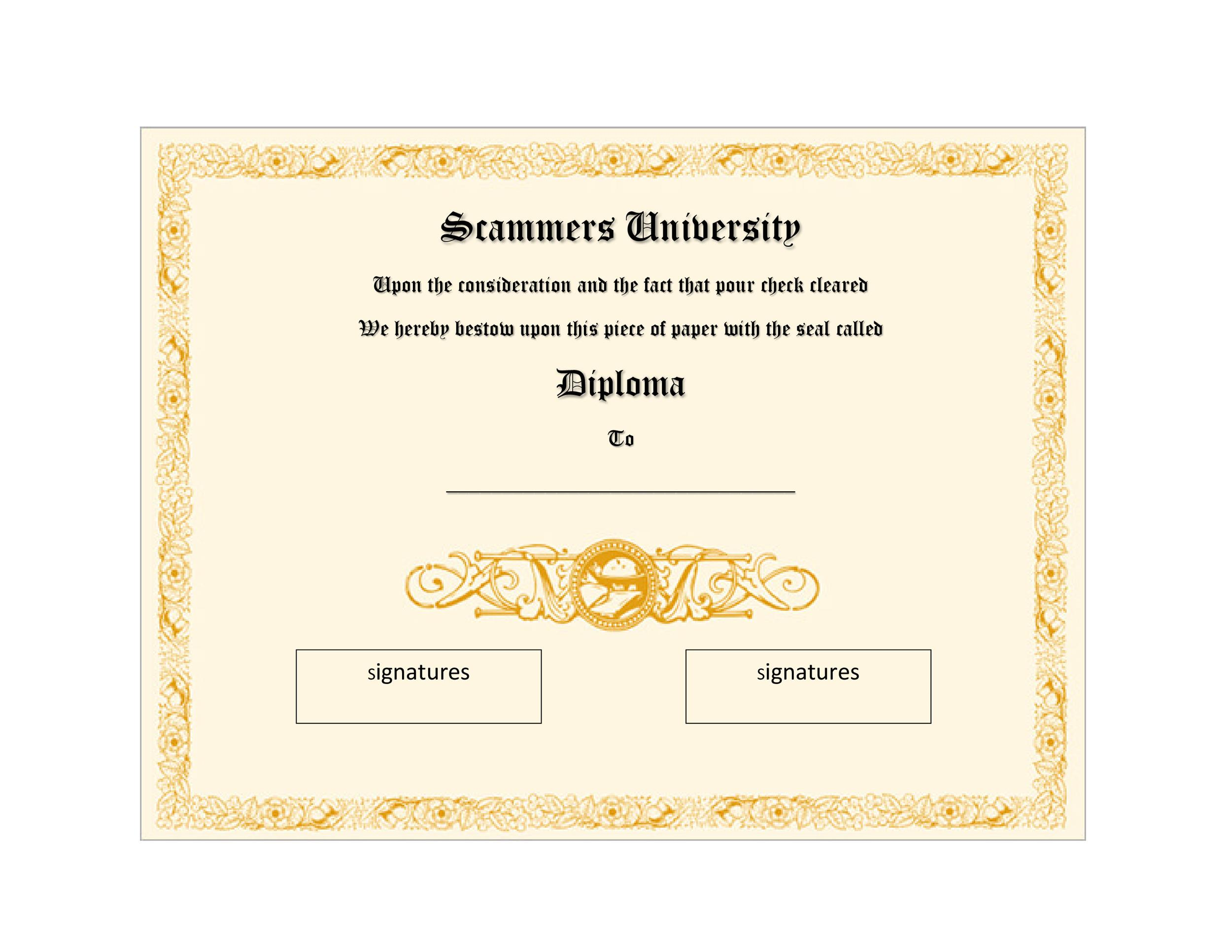 Free Diploma Template 29