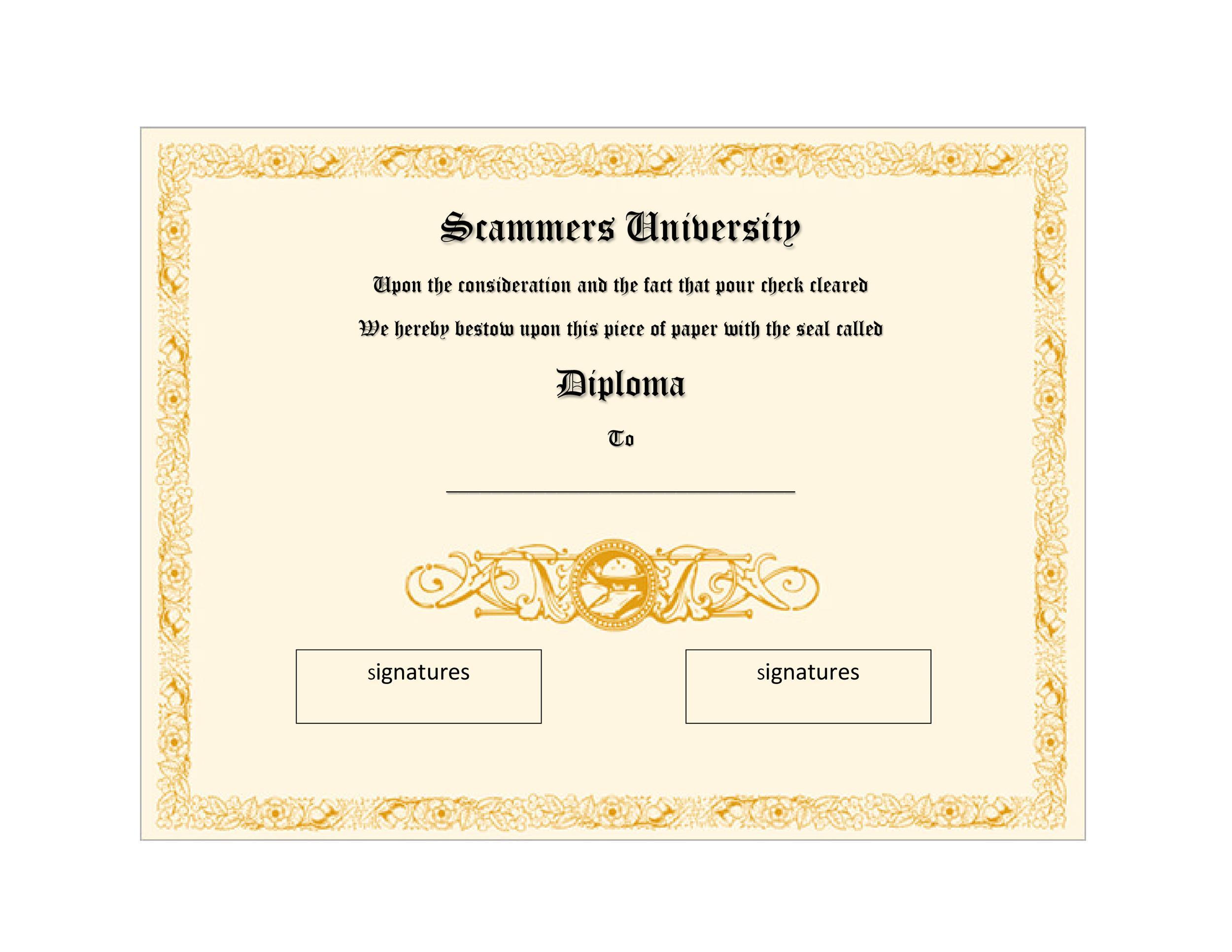 Free Diploma Template 29
