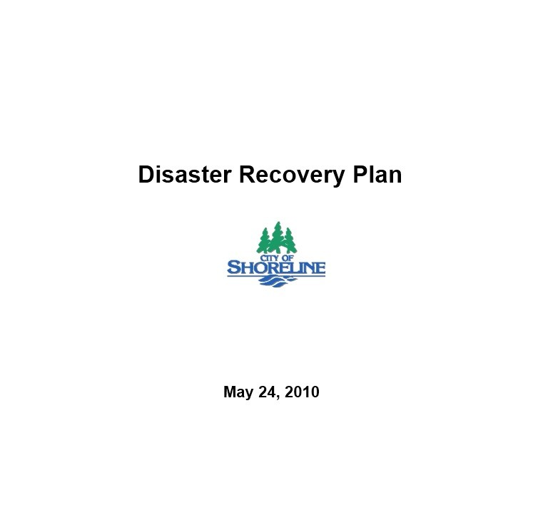 Free Disaster Recovery Plan Template 01