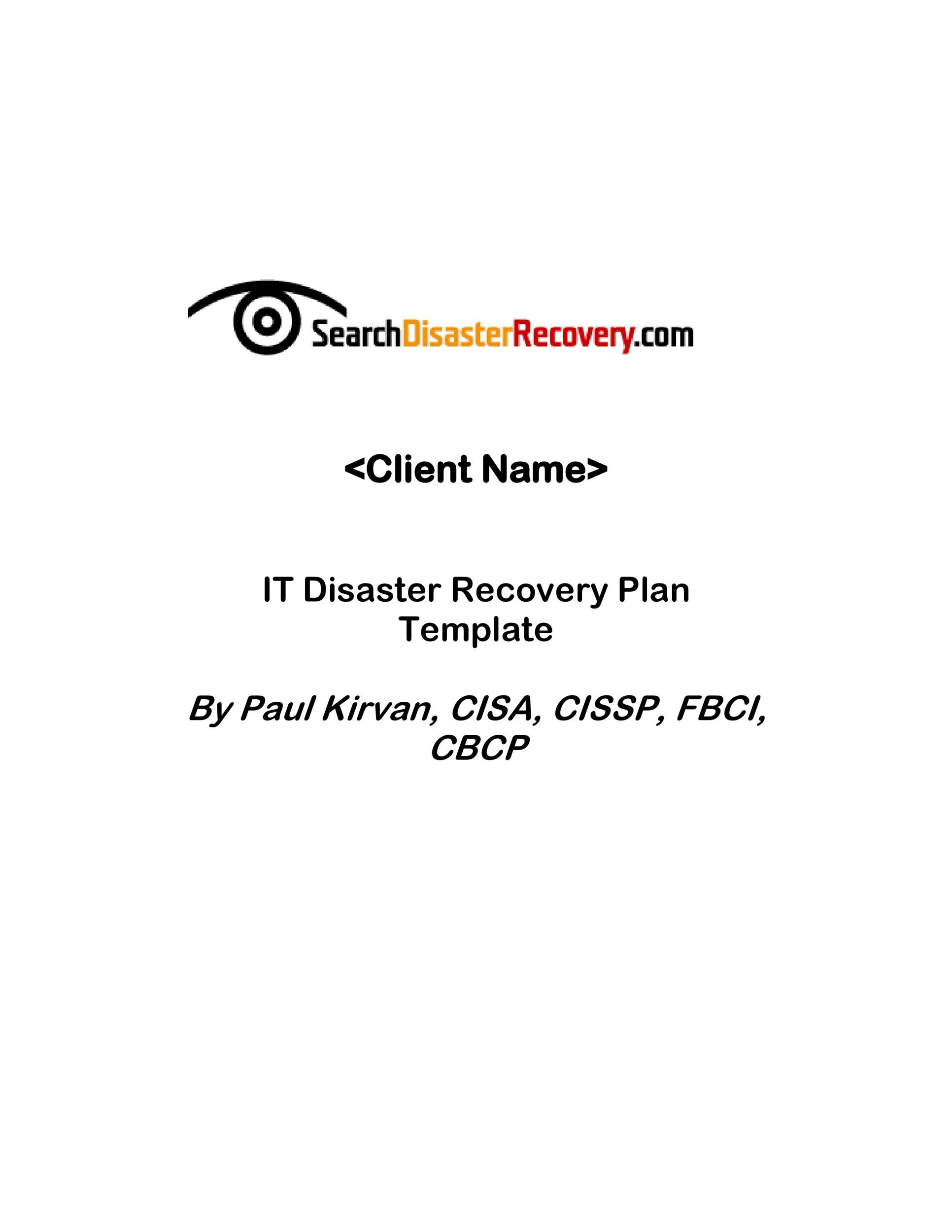 Free Disaster Recovery Plan Template 02