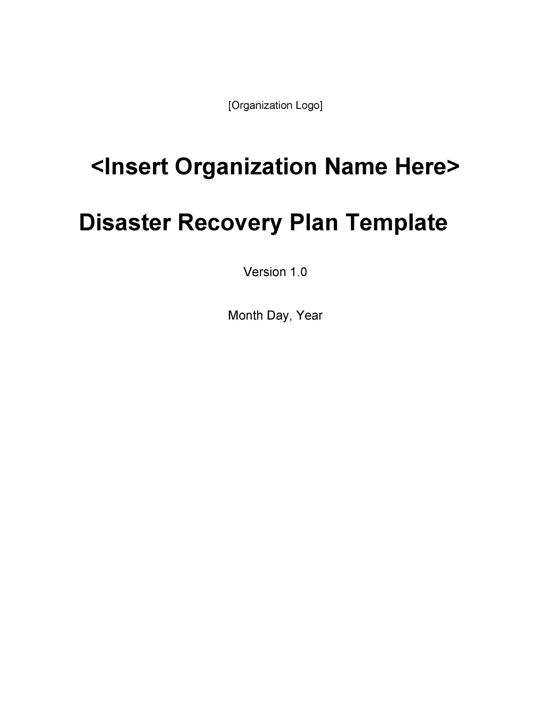 Free Disaster Recovery Plan Template 05