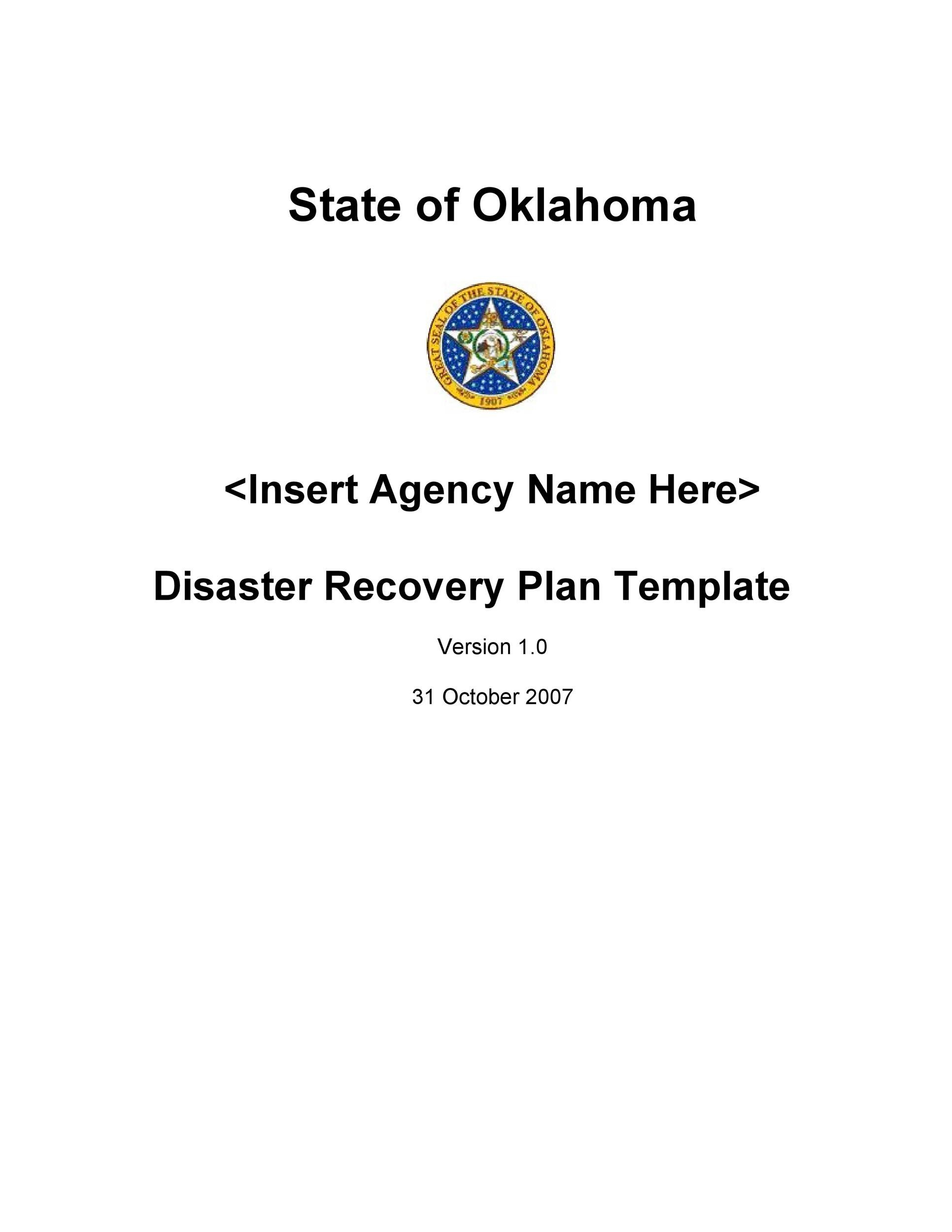 Free Disaster Recovery Plan Template 10