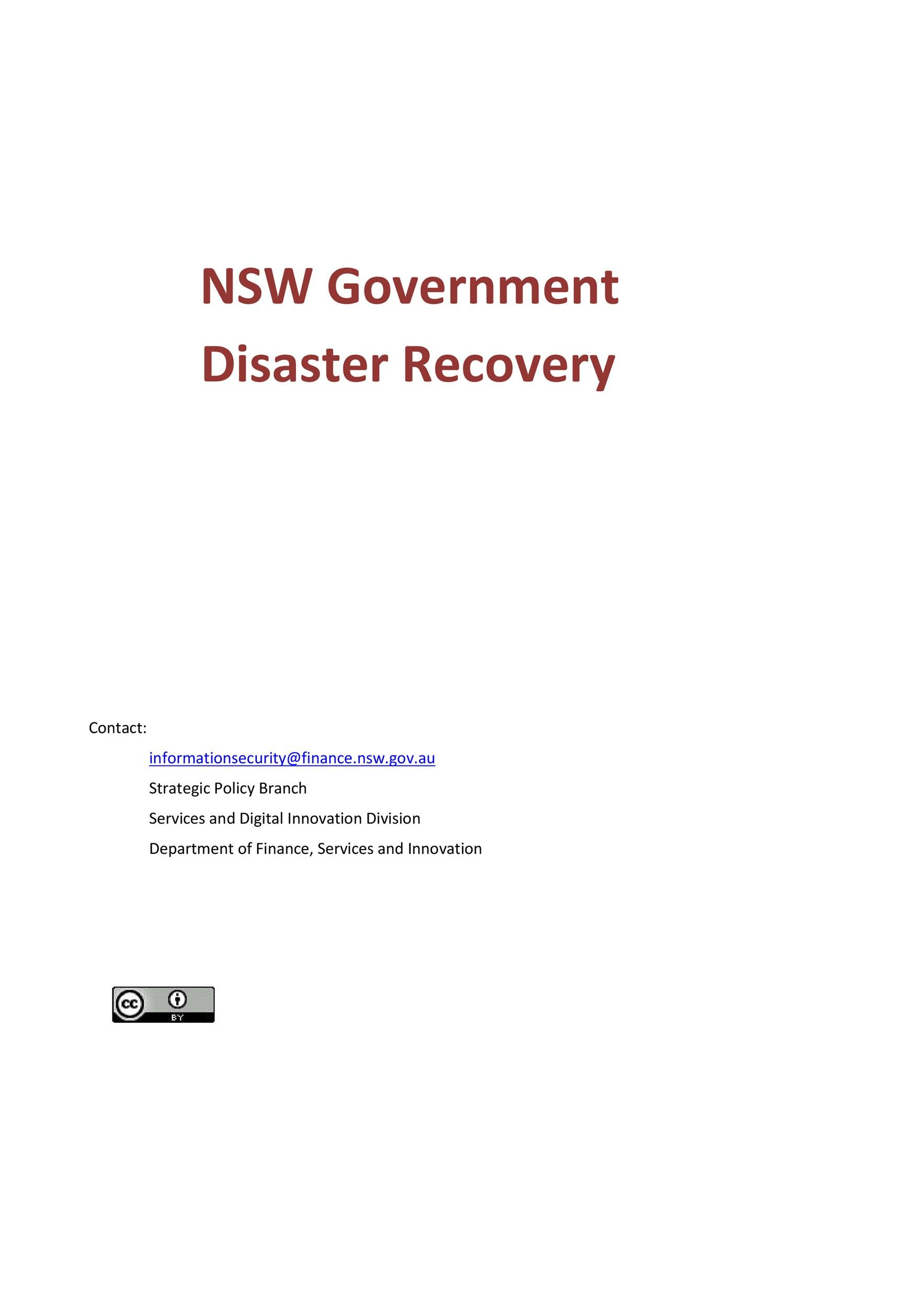 Free Disaster Recovery Plan Template 11