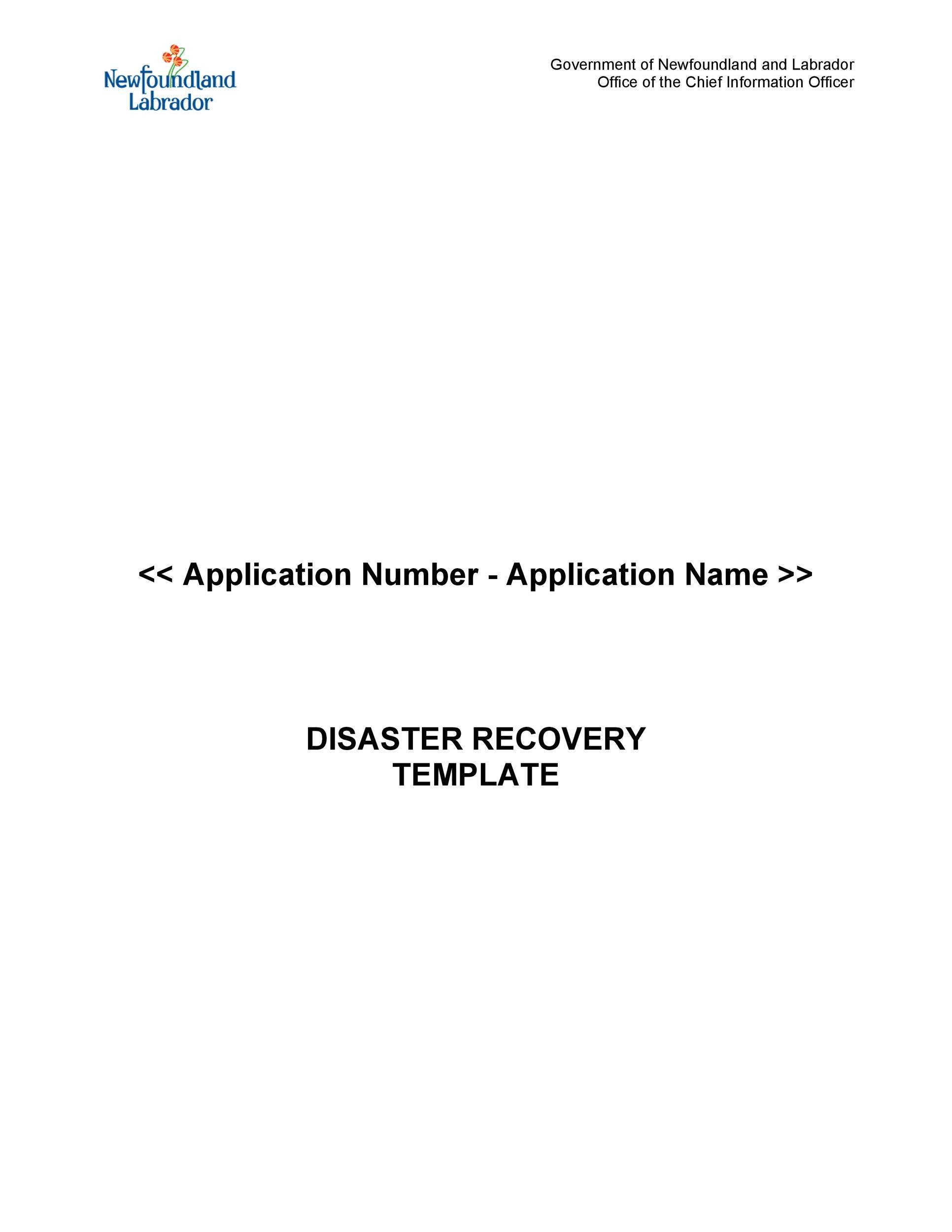 Free Disaster Recovery Plan Template 14