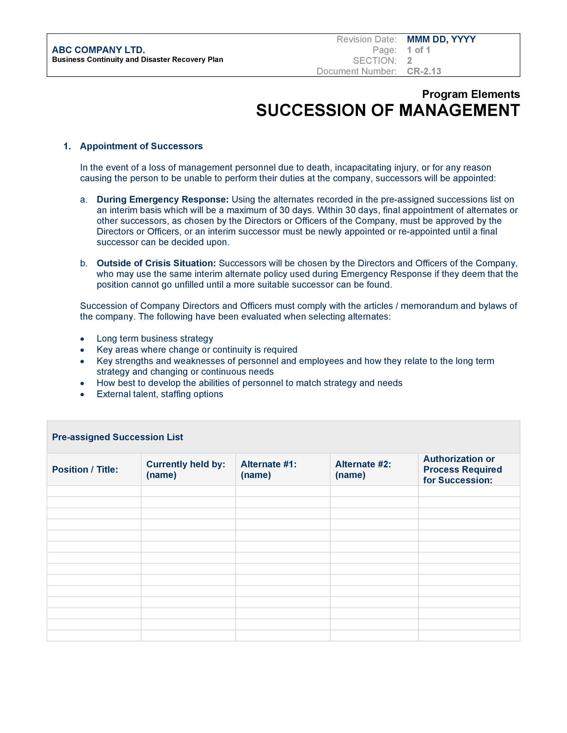 Free Disaster Recovery Plan Template 16