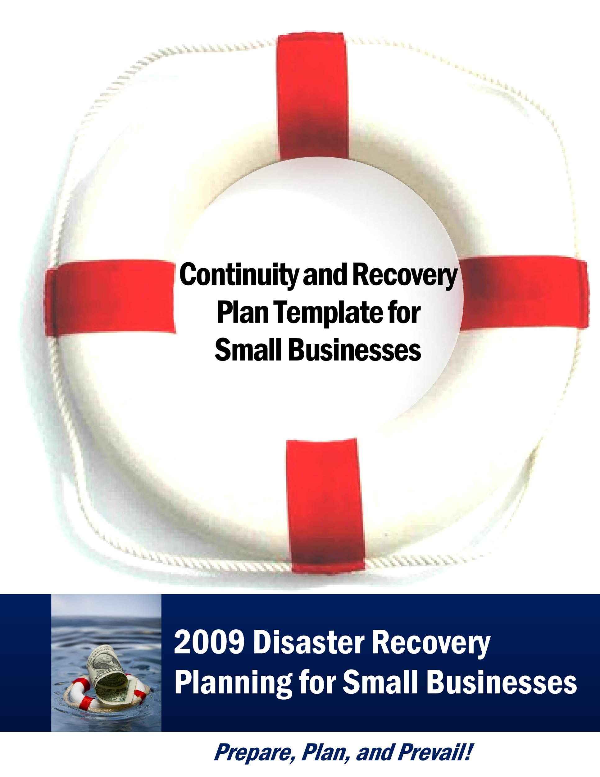 Free Disaster Recovery Plan Template 17