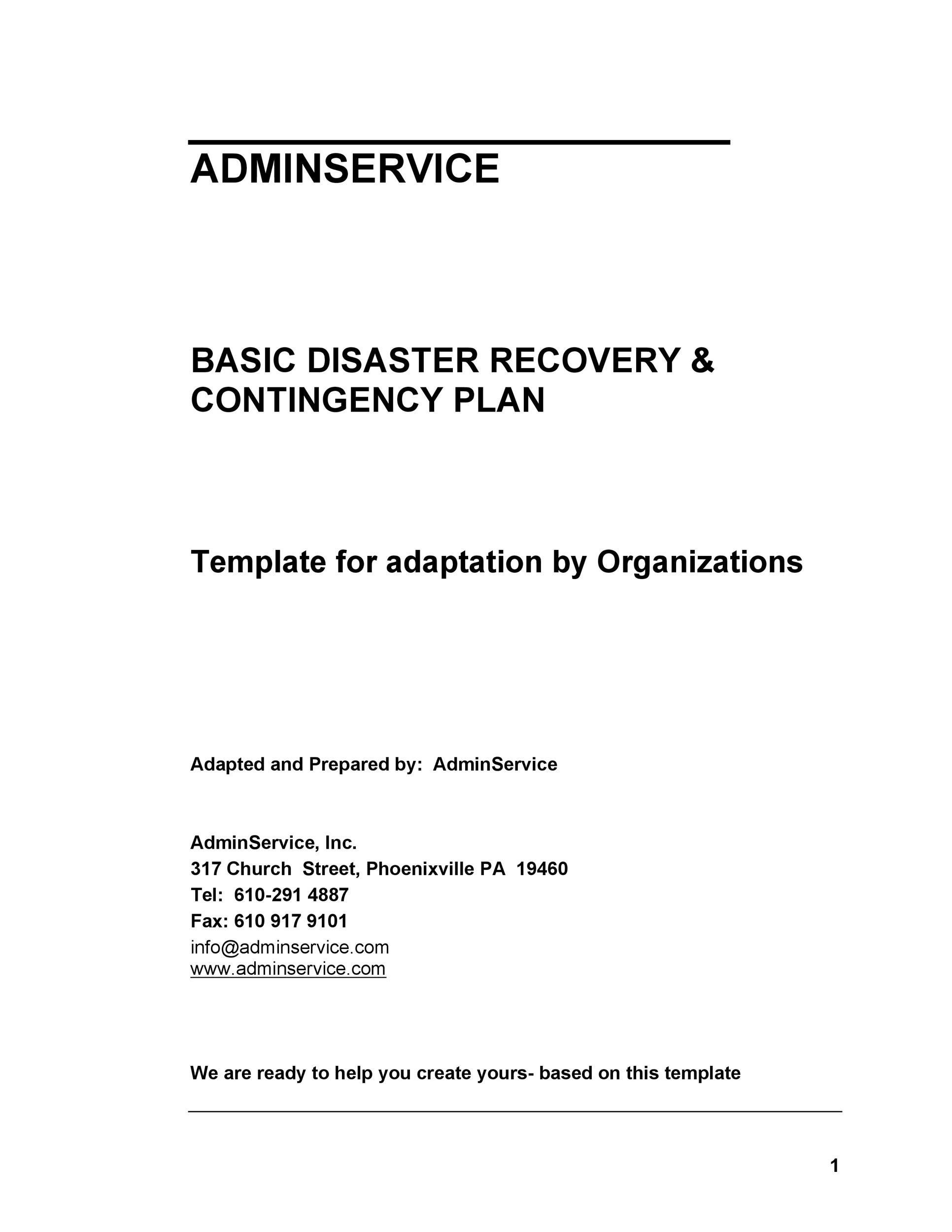 Free Disaster Recovery Plan Template 19