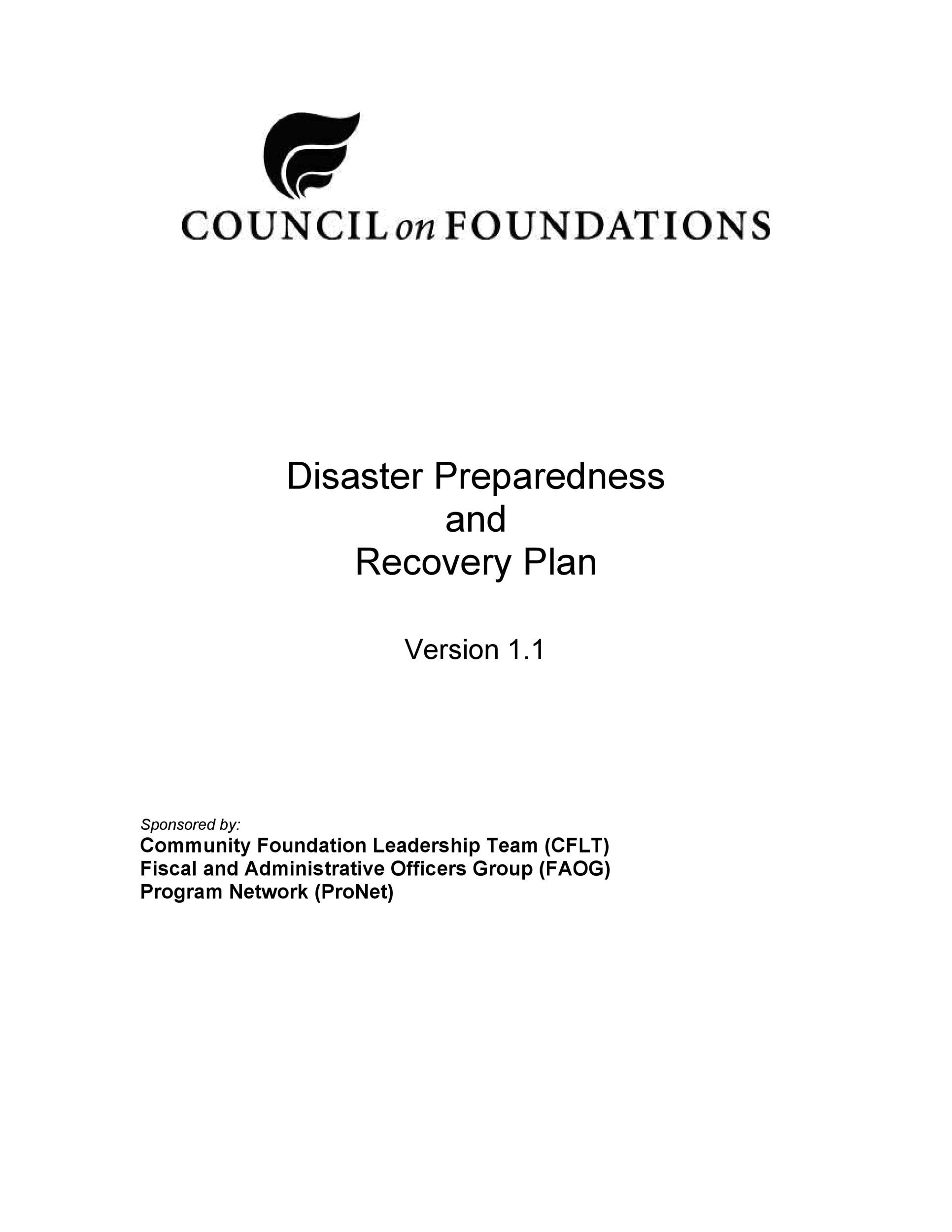 Free Disaster Recovery Plan Template 22