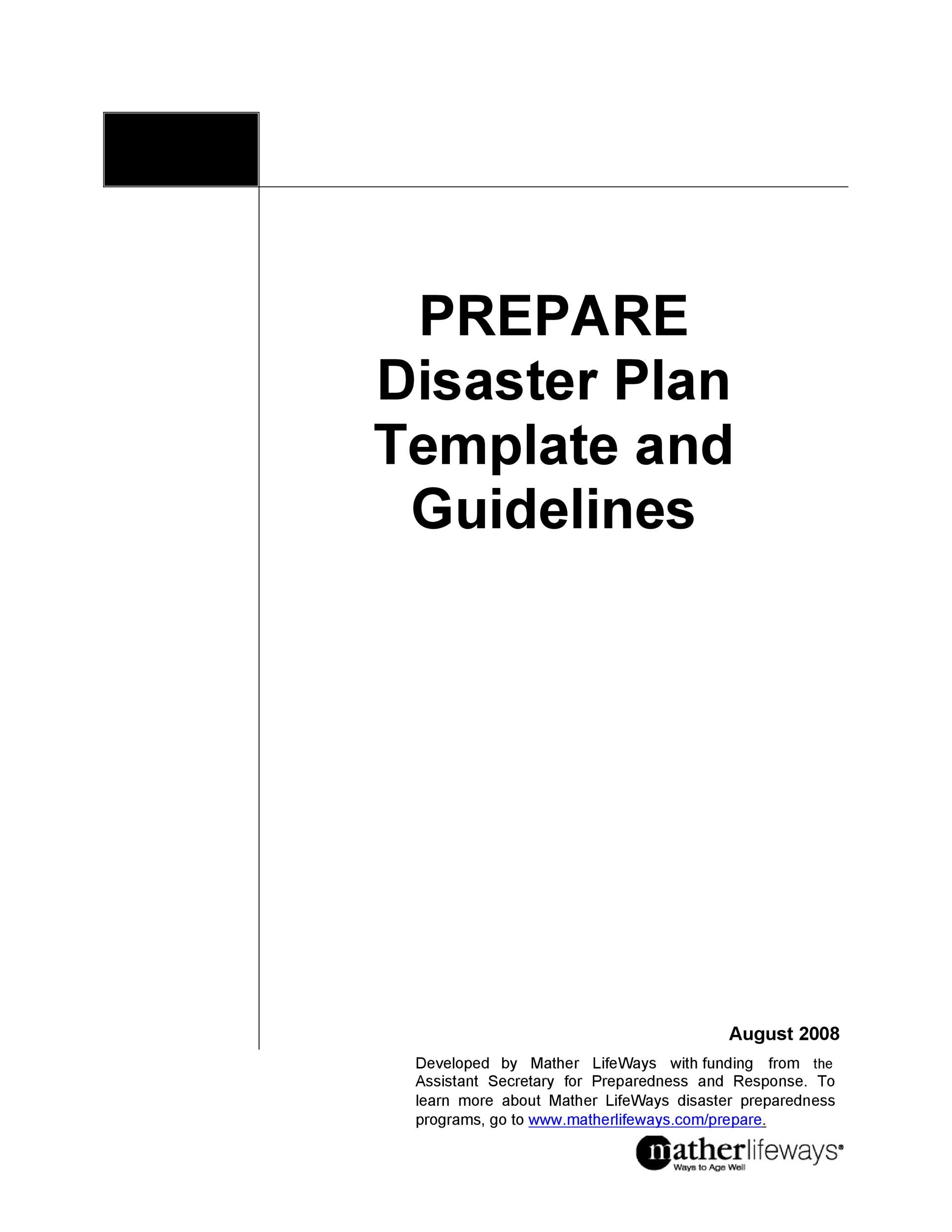 Free Disaster Recovery Plan Template 23