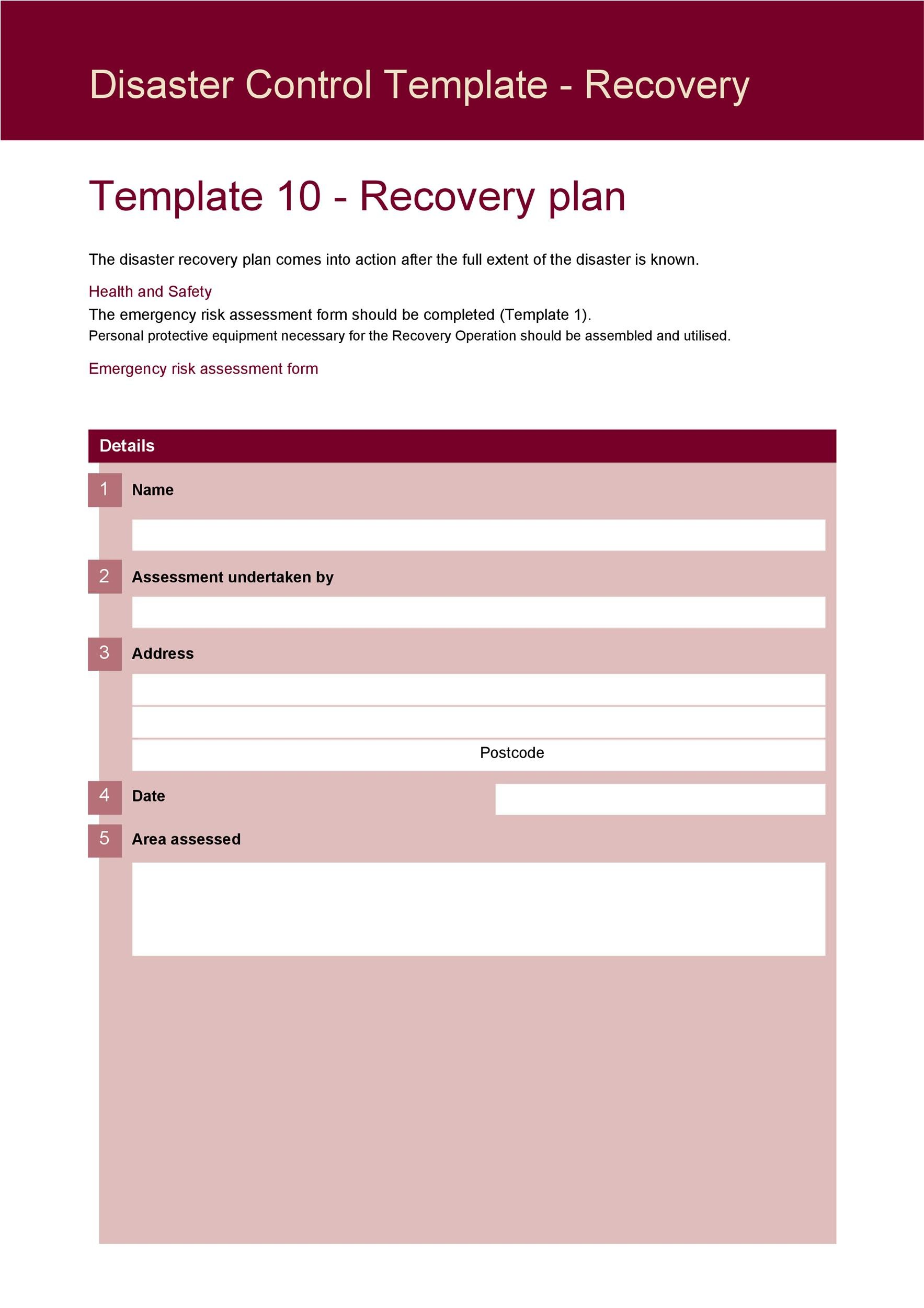 Free Disaster Recovery Plan Template 25