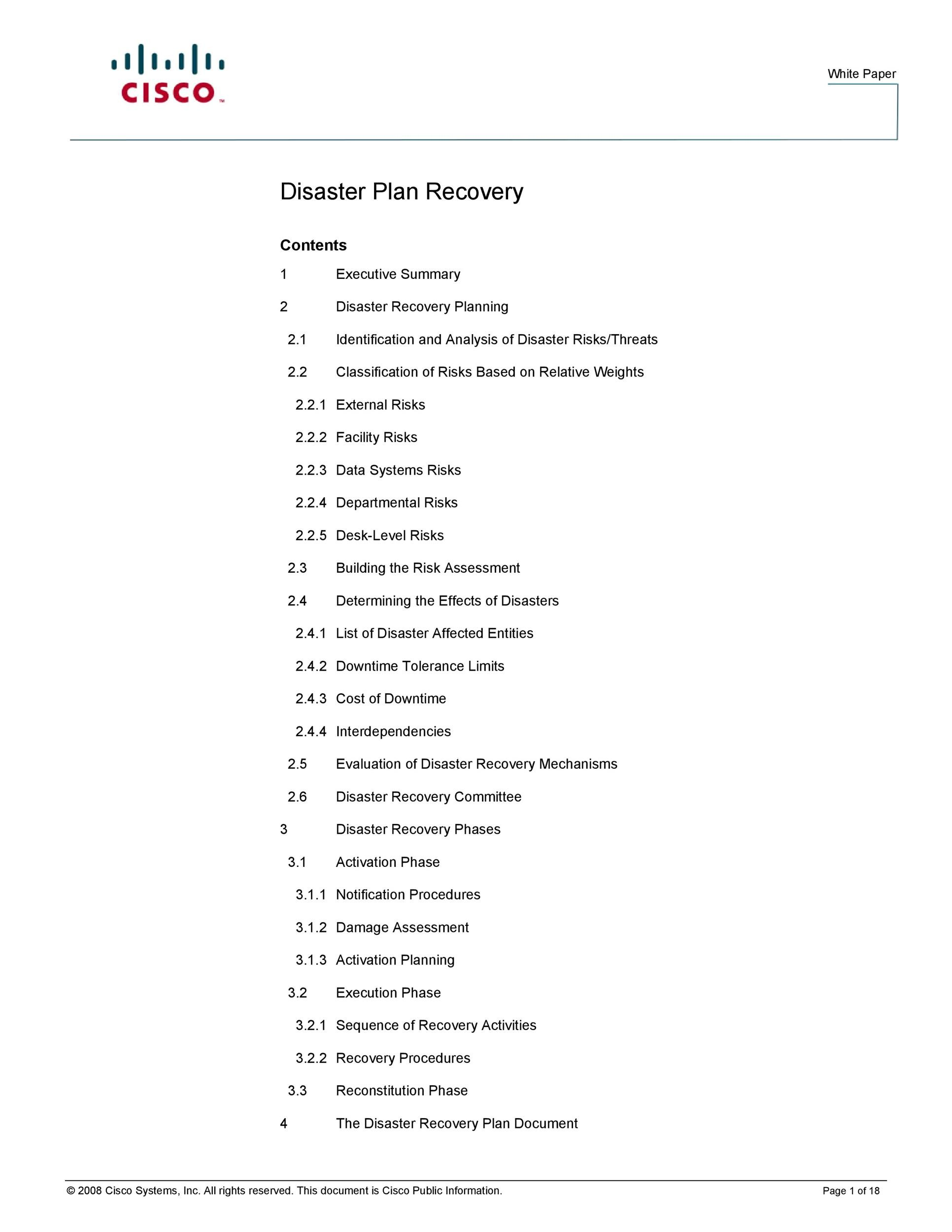 Free Disaster Recovery Plan Template 29