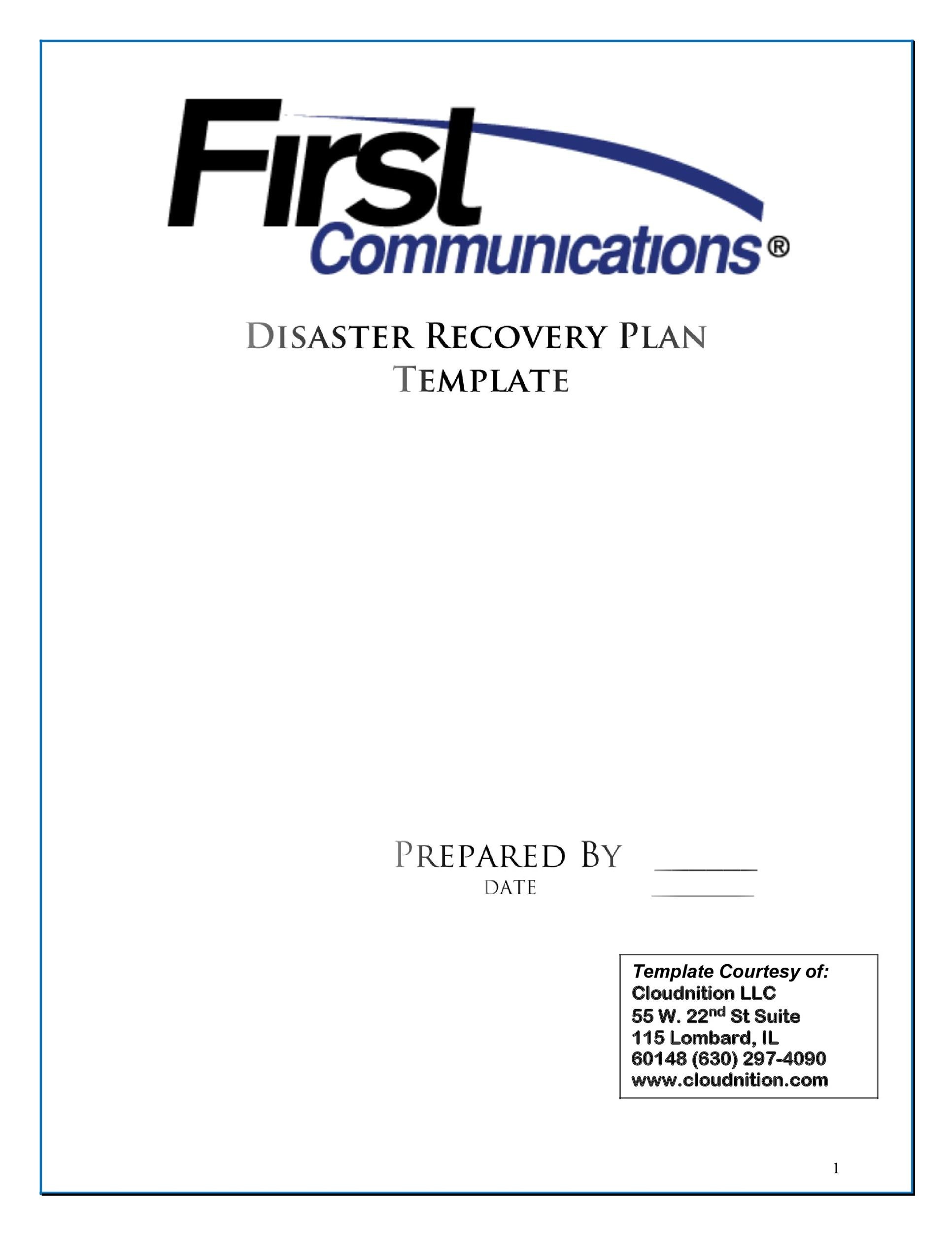 Free Disaster Recovery Plan Template 31