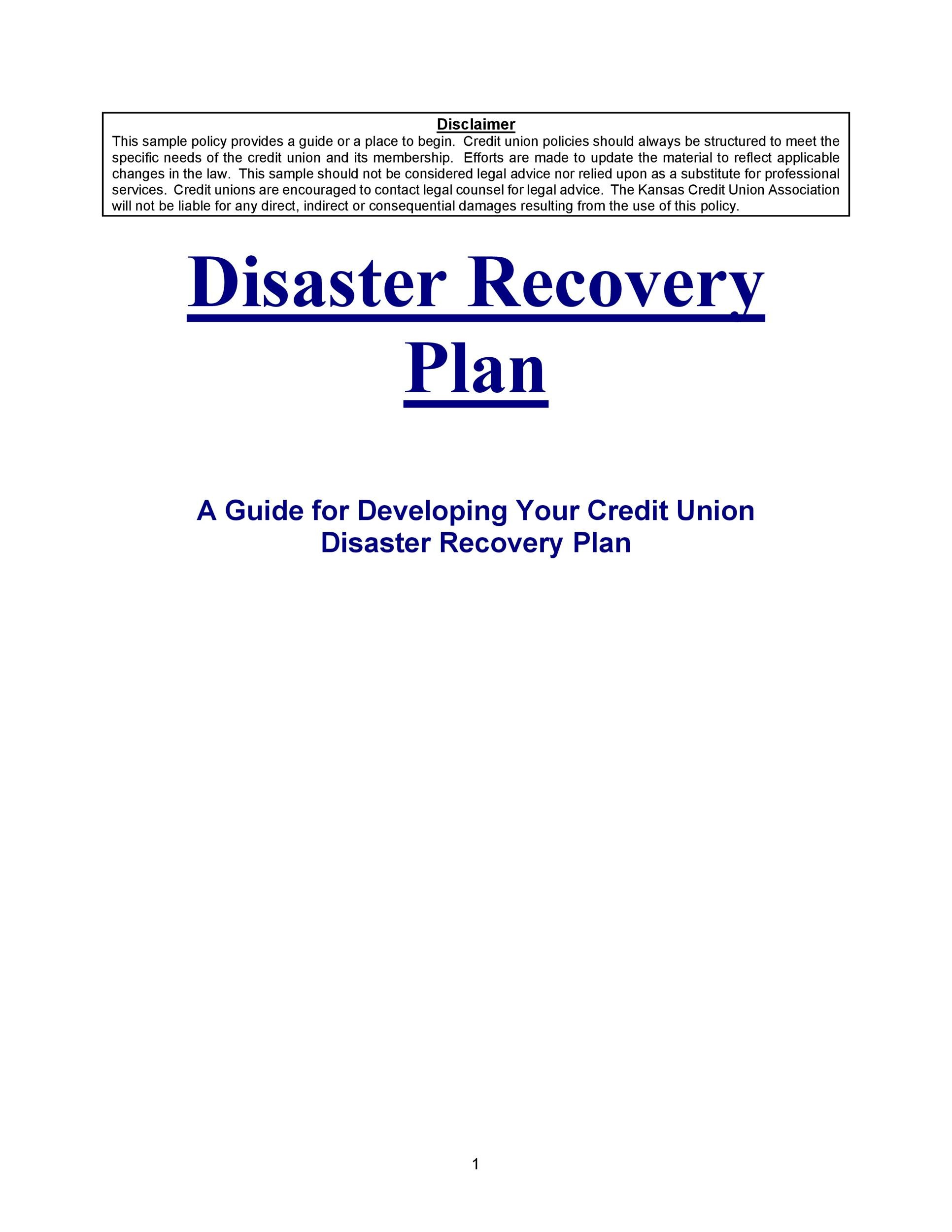 Free Disaster Recovery Plan Template 35