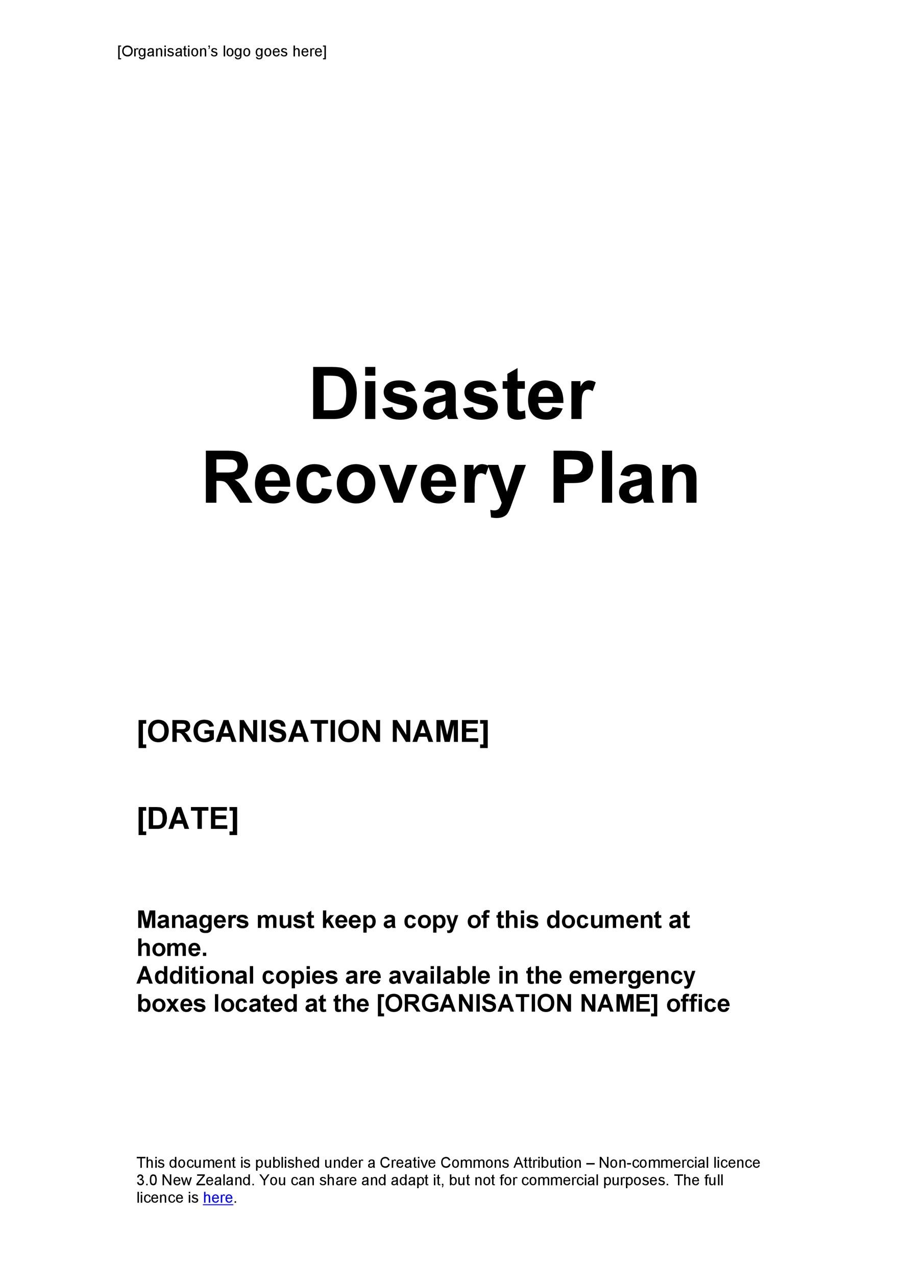 Free Disaster Recovery Plan Template 36