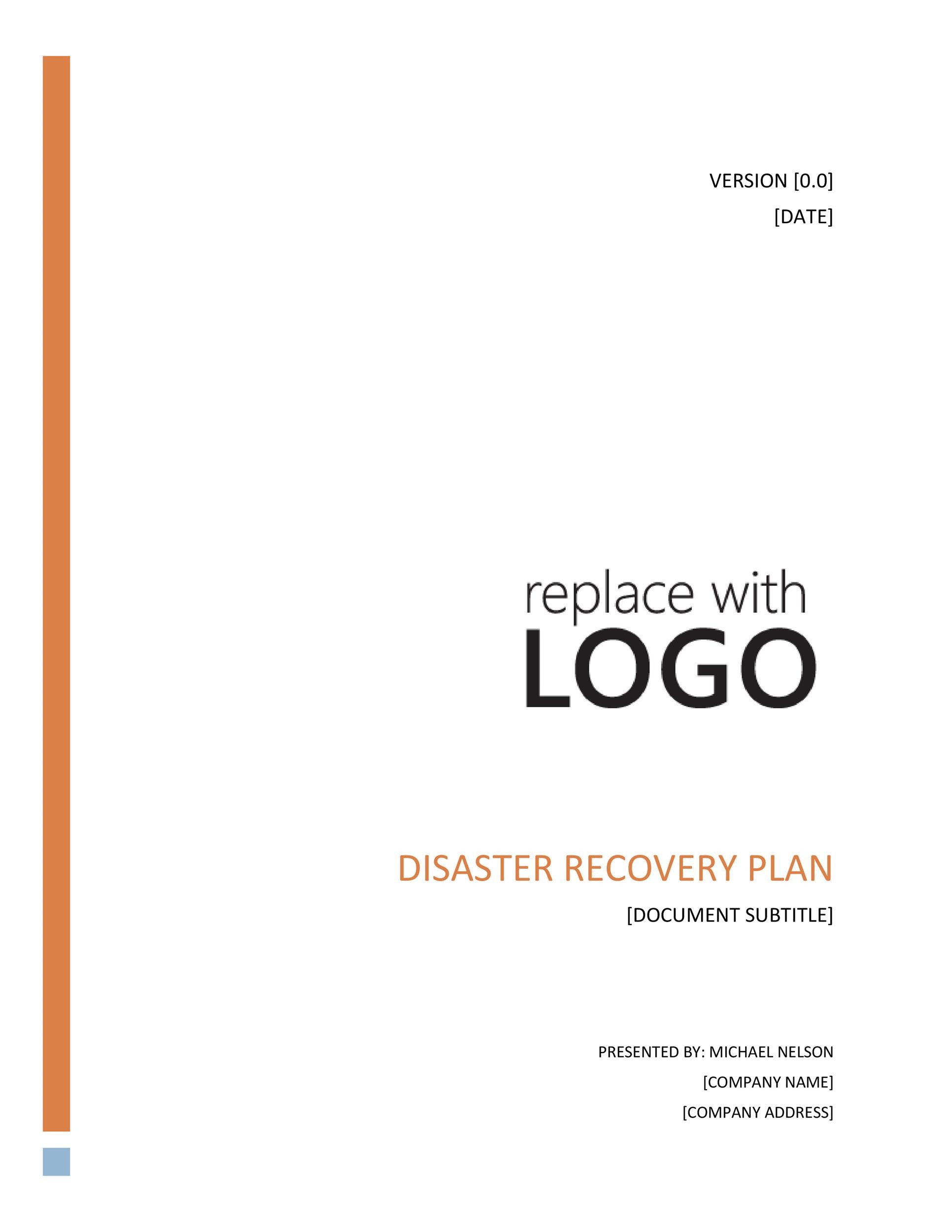 Free Disaster Recovery Plan Template 39