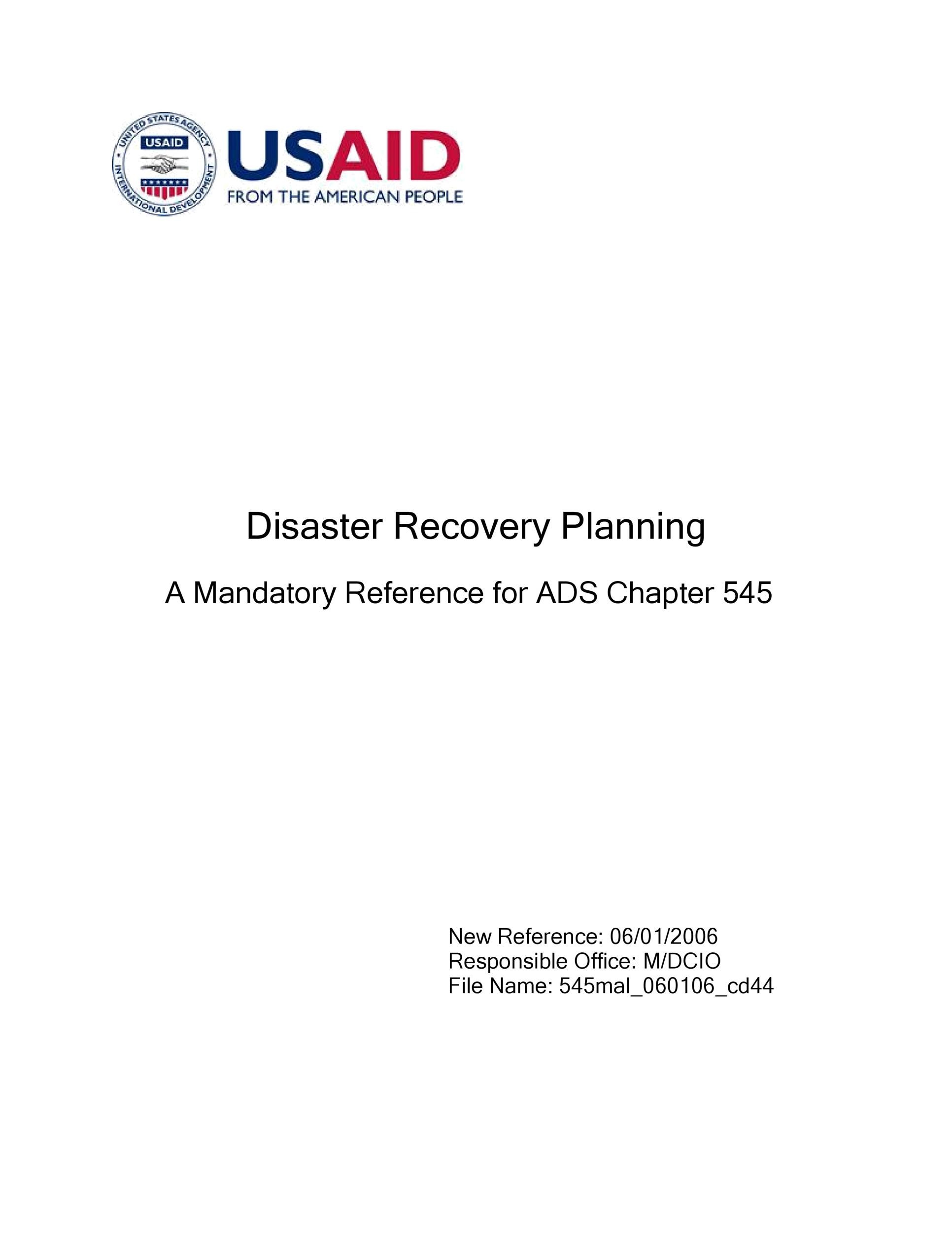 Free Disaster Recovery Plan Template 41